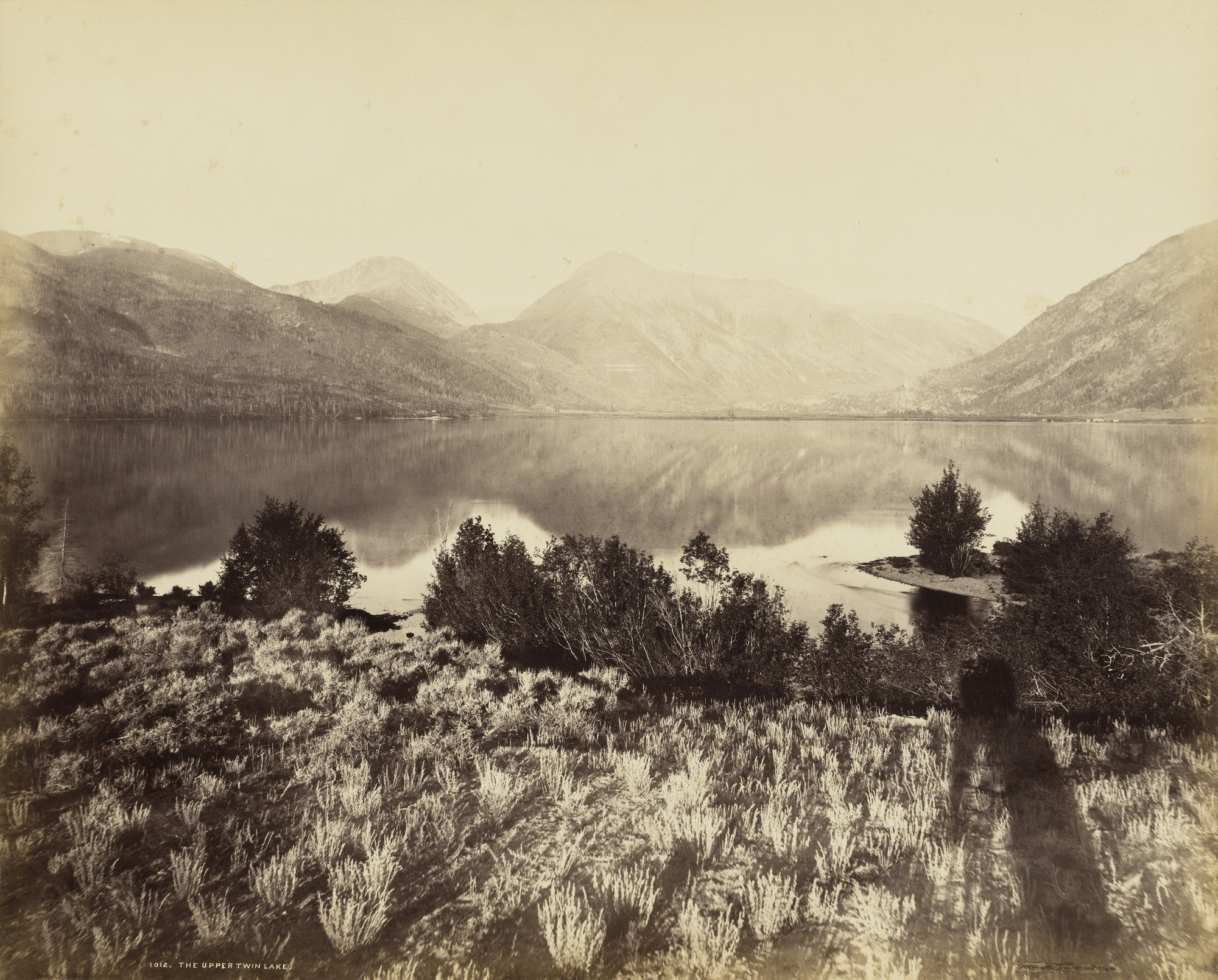 William Henry Jackson. Upper Twin Lake, Colorado. 1875
