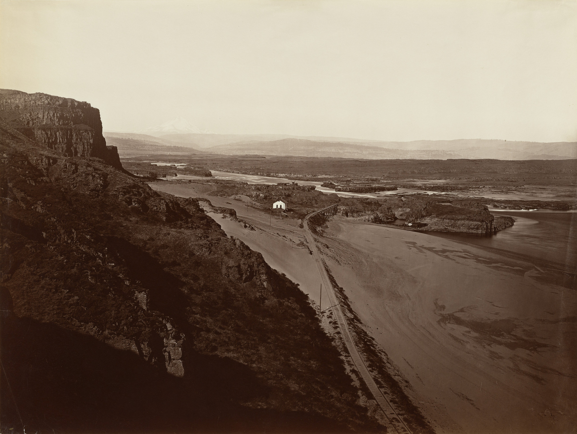 Carleton E. Watkins. The Dalles, Oregon. c. 1867