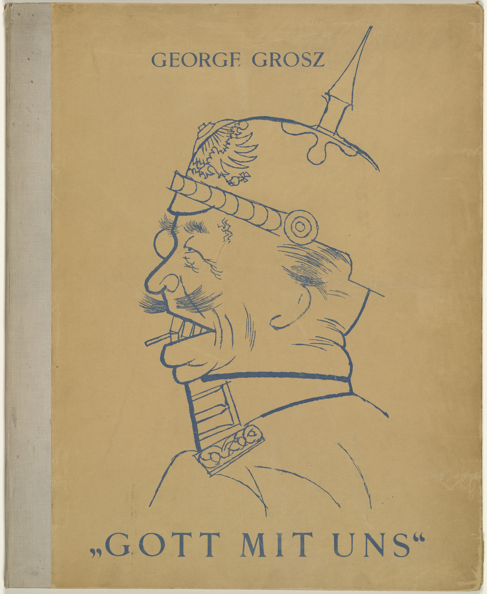 George Grosz Cover From The Portfolio God With Us Gott Mit Uns 1919 Published 1920 Moma