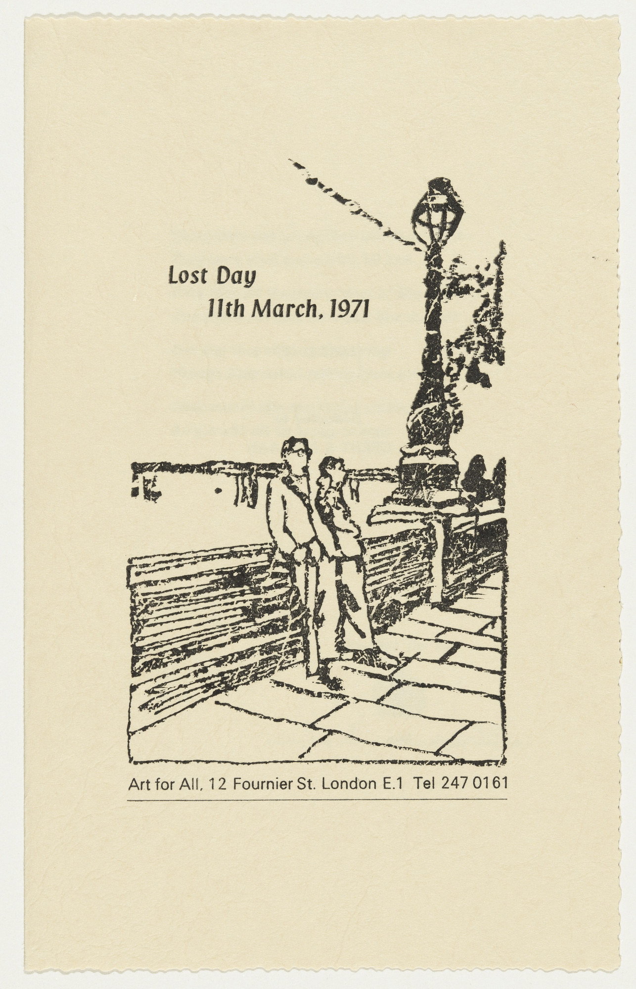 Gilbert & George, Gilbert Proesch, George Passmore. Lost Day from The Limericks. 1971