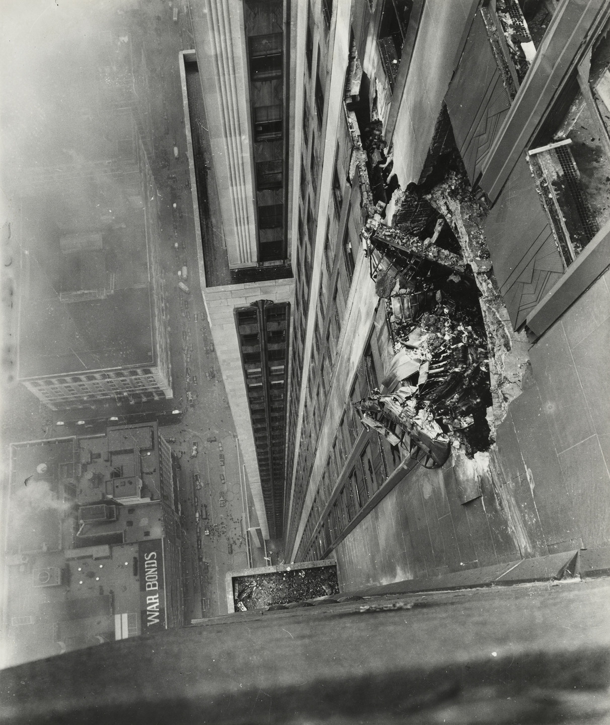 Ernie Sisto/The New York Times. Where Bomber Crashed into the Empire State Building. July 28, 1945