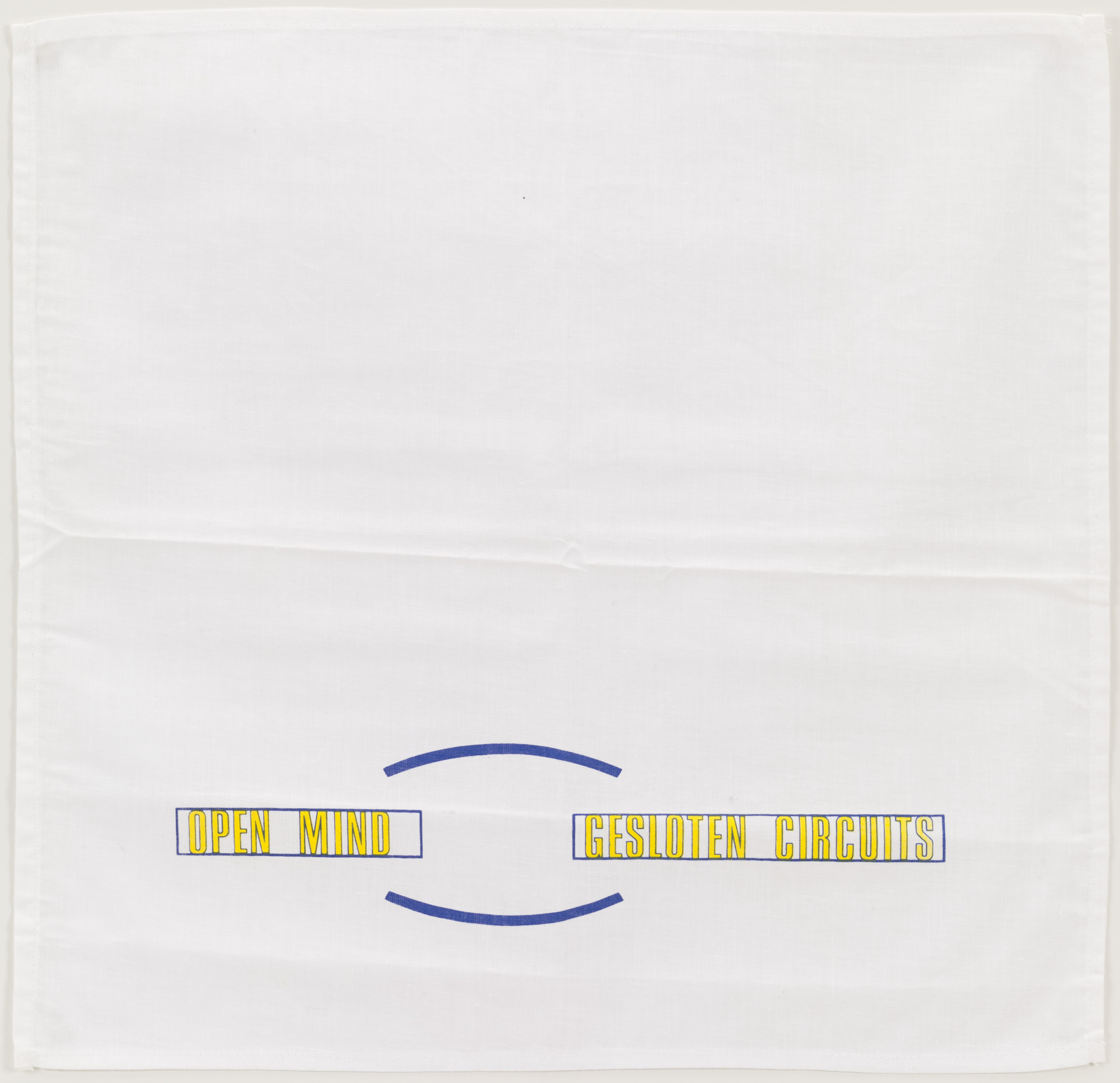 Lawrence Weiner. Open Mind/Gesloten Circuits. 1989