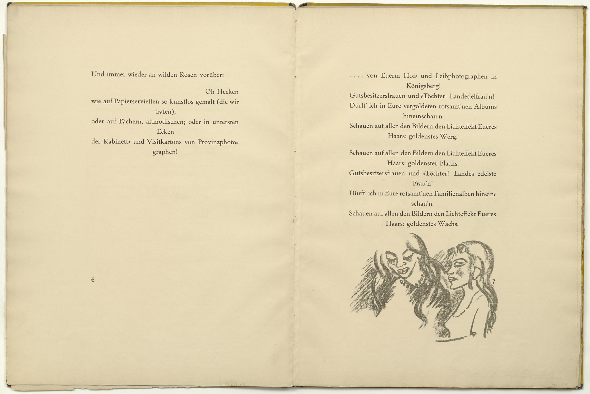 Max Pechstein. Untitled (in-text plate, page 7) from Die Samländische Ode (The Samland Ode). 1918 (executed 1917)