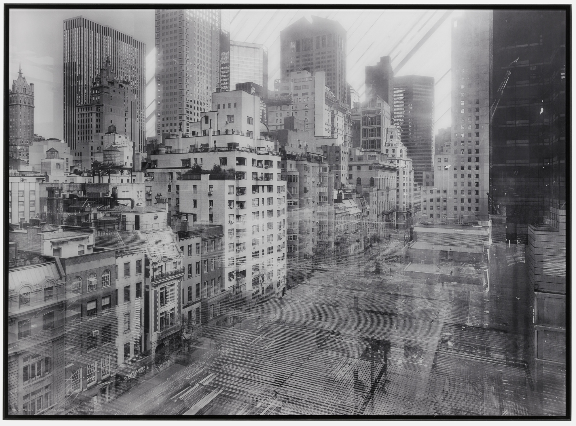 Michael Wesely. 9 August 2001 - 2 May 2003 The Museum of Modern Art, New York. 2001-03