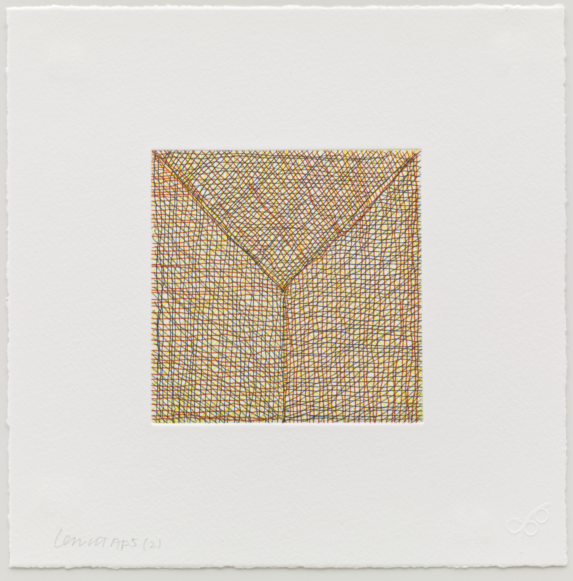 Sol LeWitt. (2) from Eight Small Etchings/Color. 1999