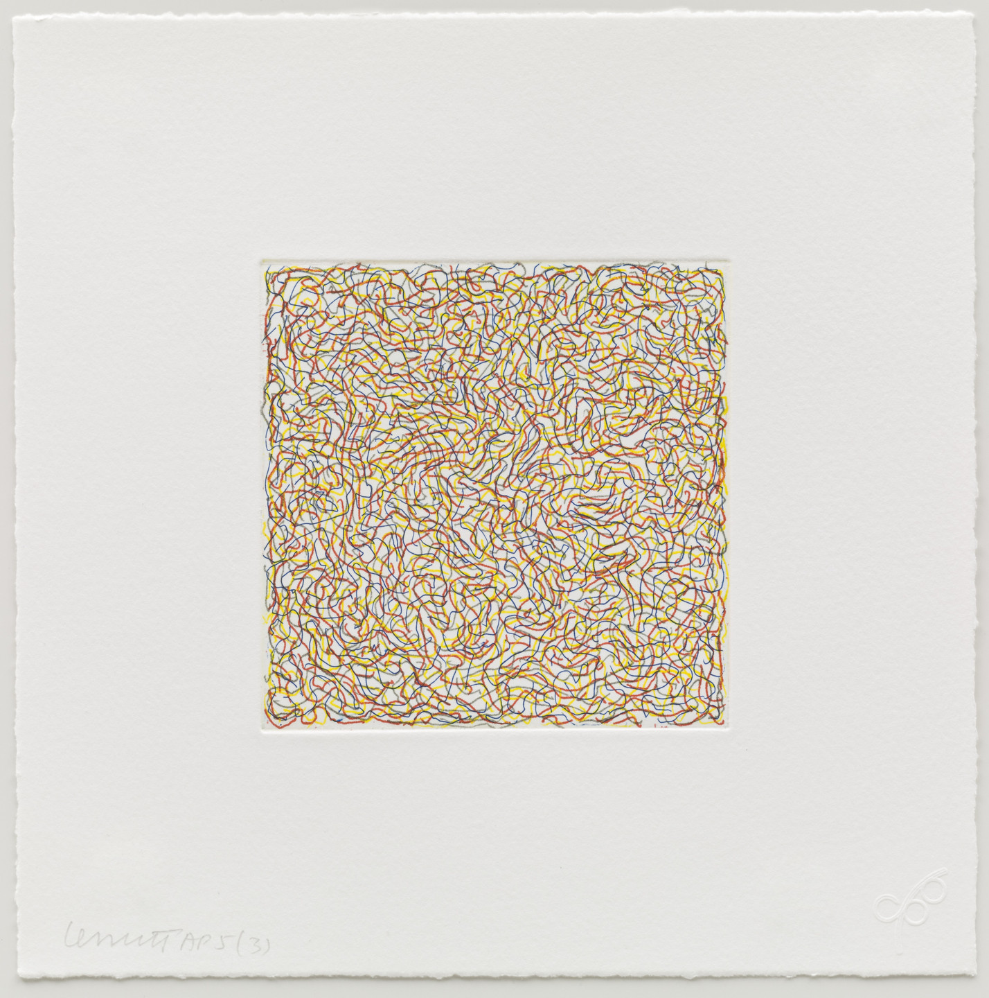 Sol LeWitt. (3) from Eight Small Etchings/Color. 1999
