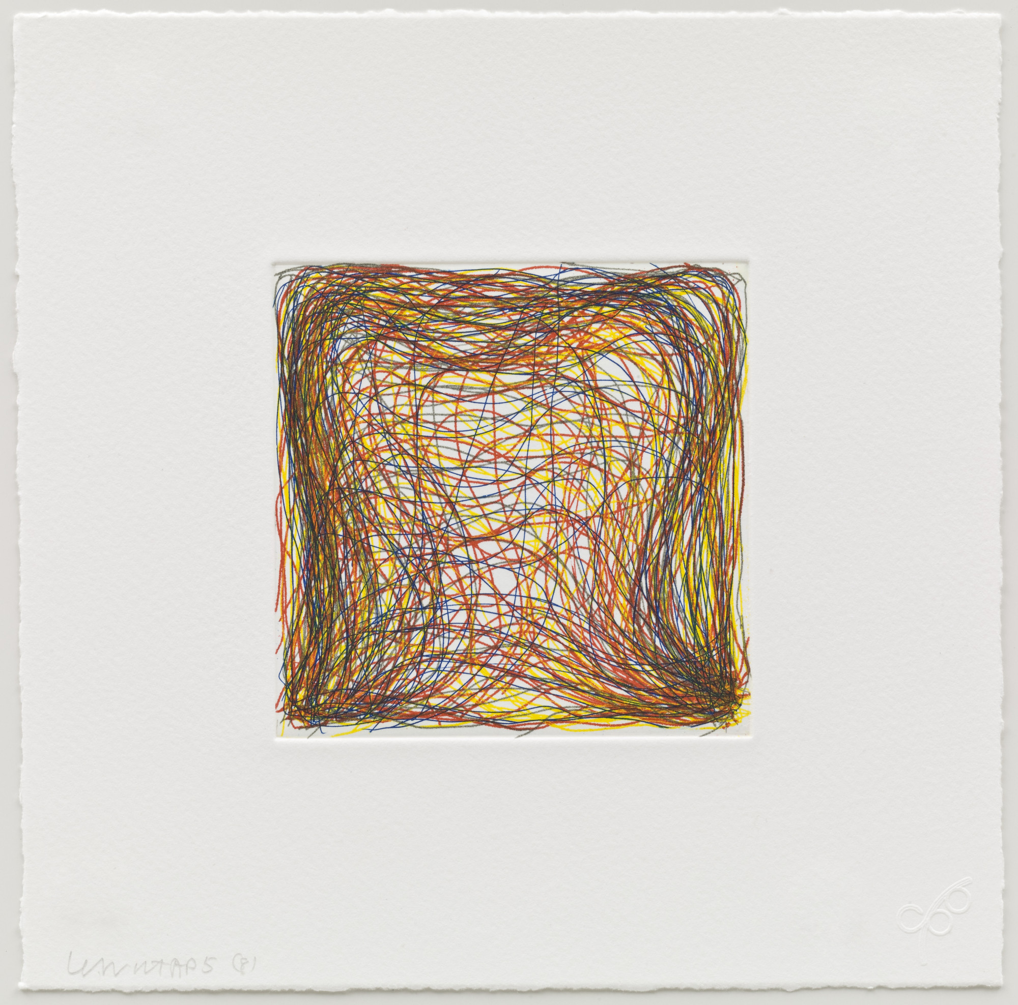 Sol LeWitt. (8) from Eight Small Etchings/Color. 1999
