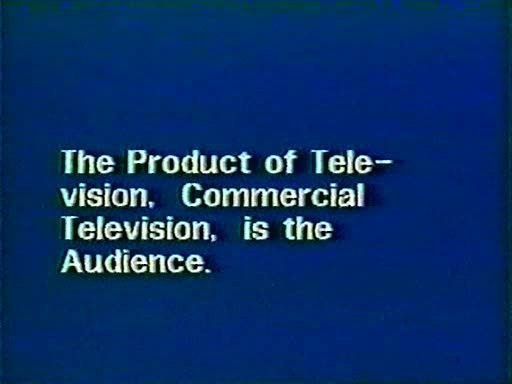 Richard Serra. Television Delivers People. 1973