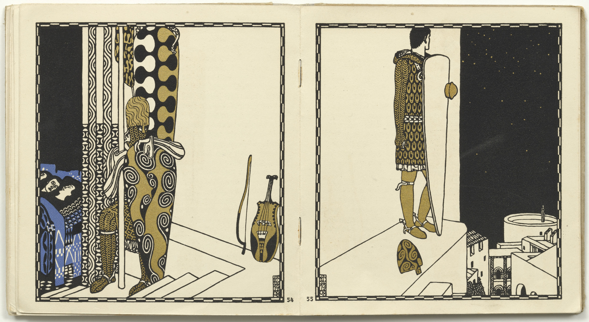 Carl Otto Czeschka. Untitled from Die Nibelungen (The Nibelungs). (1920)