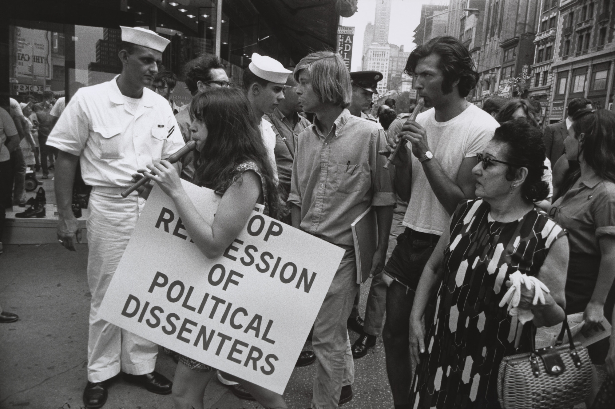 Garry Winogrand. Political Demonstration, New York. 1969