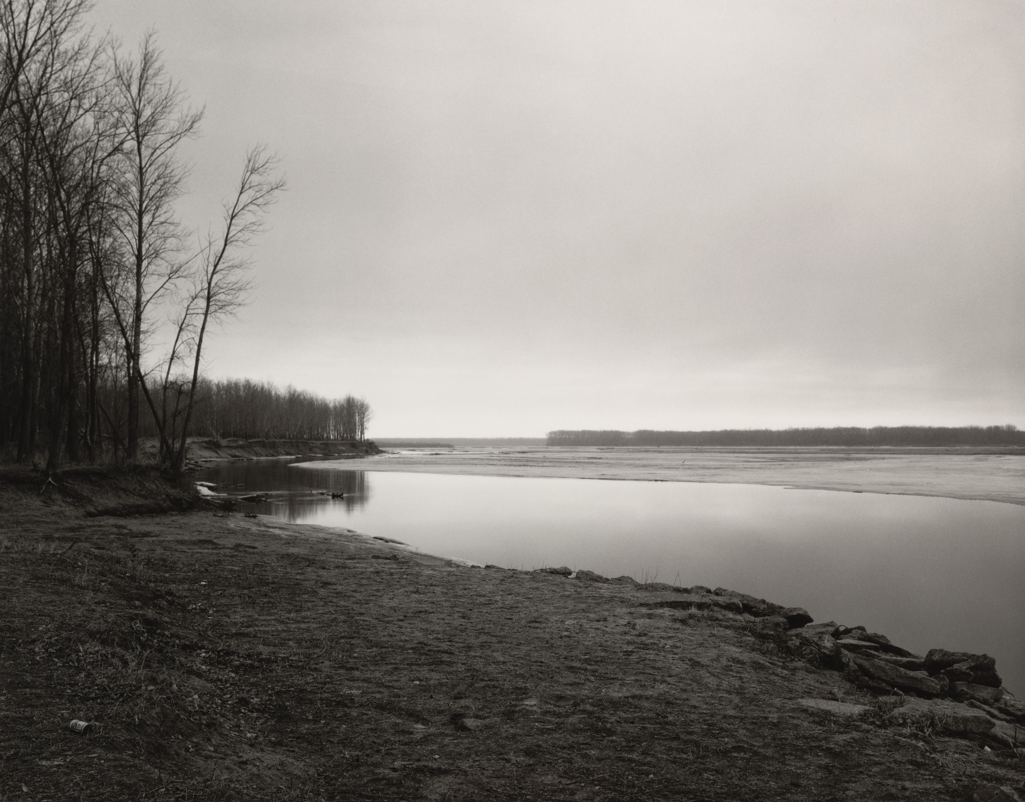 Robert Adams. Missouri River, Clay County, South Dakota. 1976