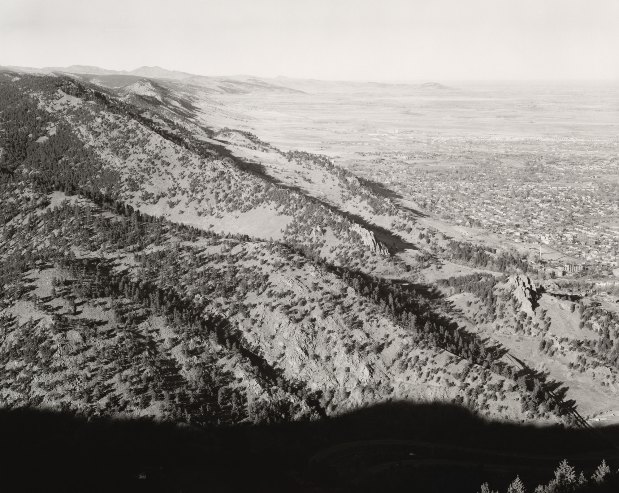 Robert Adams. Above Boulder, Colorado. 1976