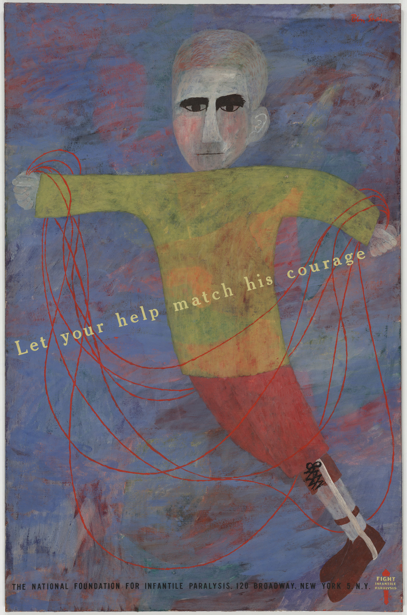 Ben Shahn. Let Your Help Match His Courage. 1949