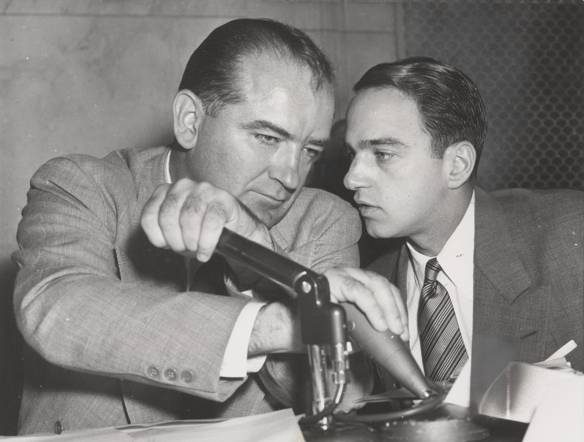 "Associated Press. ""Senator Joseph R. McCarthy and Roy Cohn"". 1954"