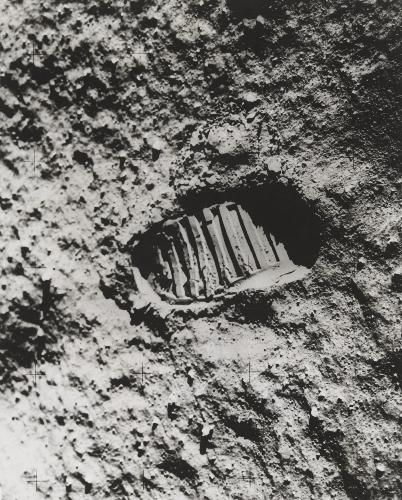 "NASA. ""View of Astronaut Footprint in Lunar Soil"". July 20, 1969"