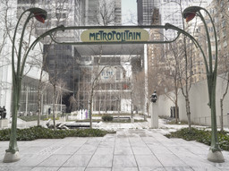 Hector Guimard. Entrance Gate to Paris Subway (Métropolitain) Station, Paris, France. c. 1900