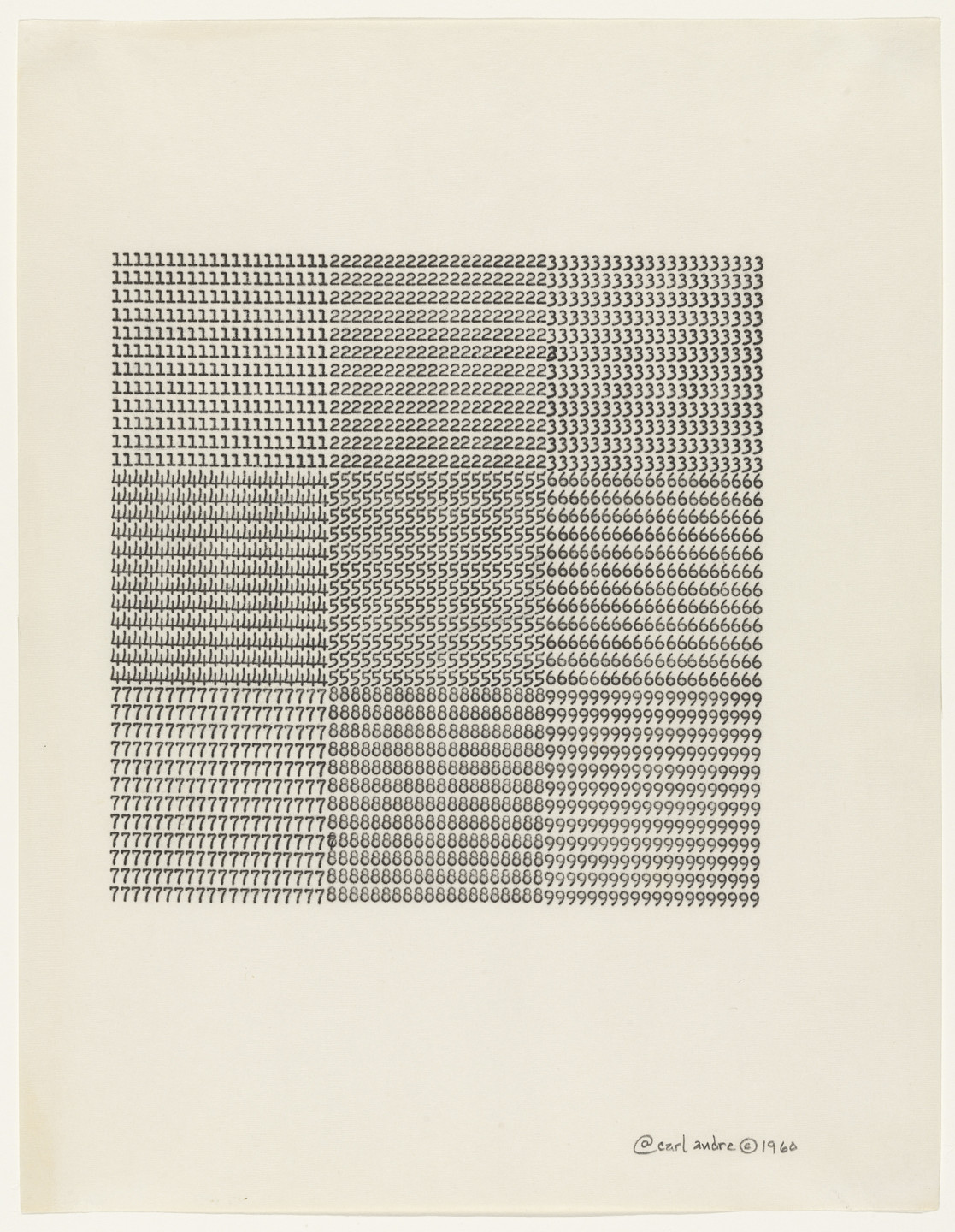 Carl Andre. Untitled. 1960