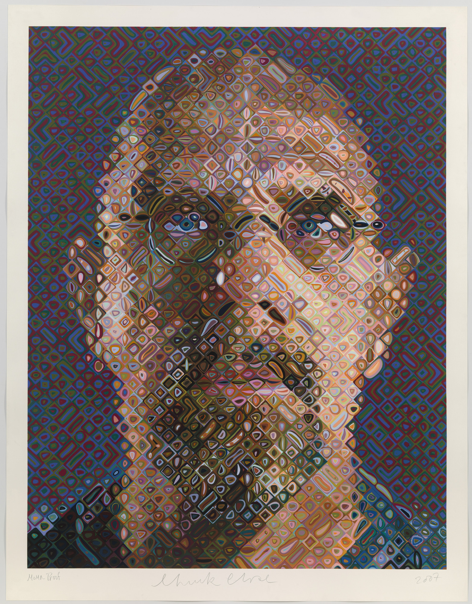 Chuck Close. Self-Portrait. 2007