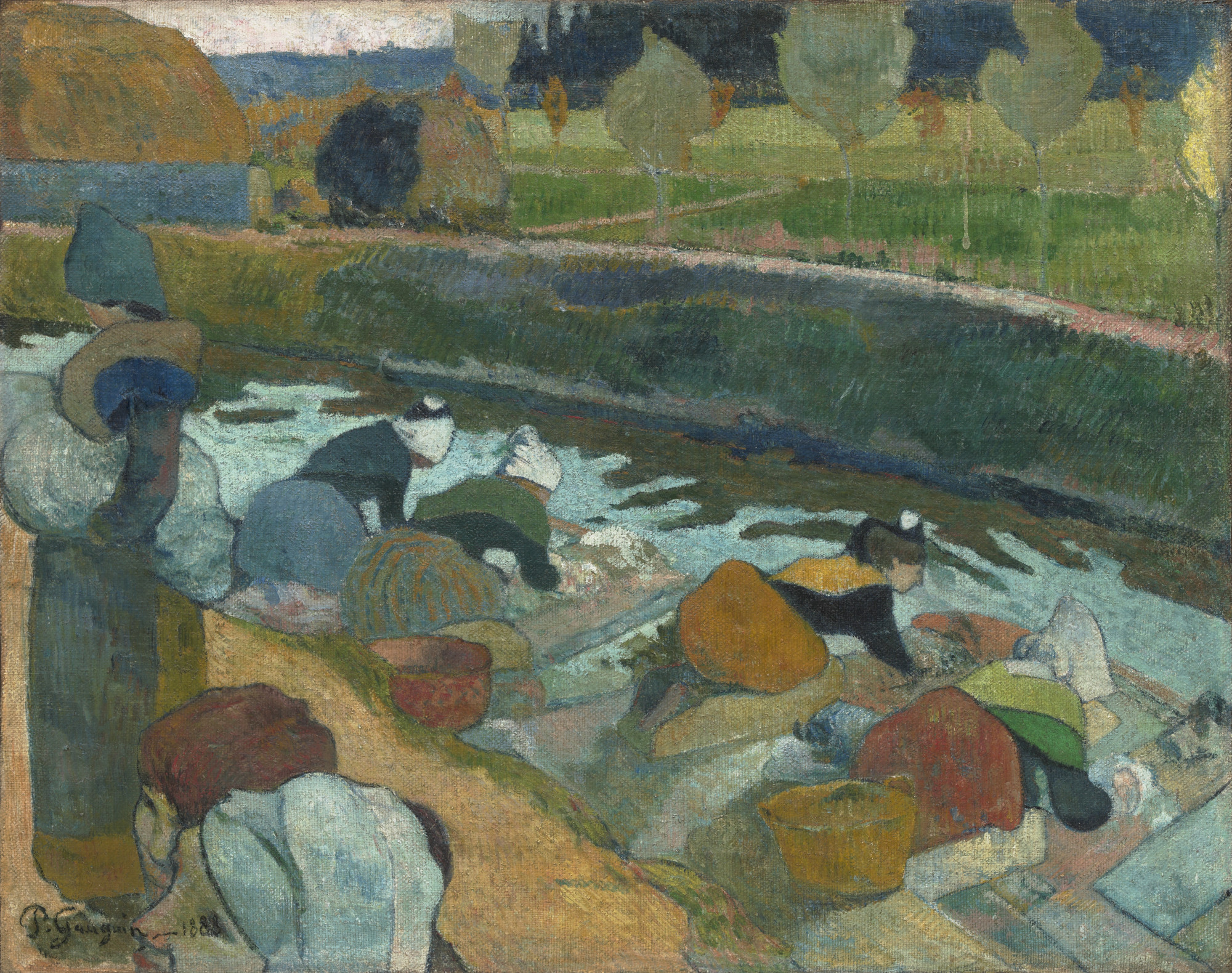 Paul Gauguin. Washerwomen. Arles 1888