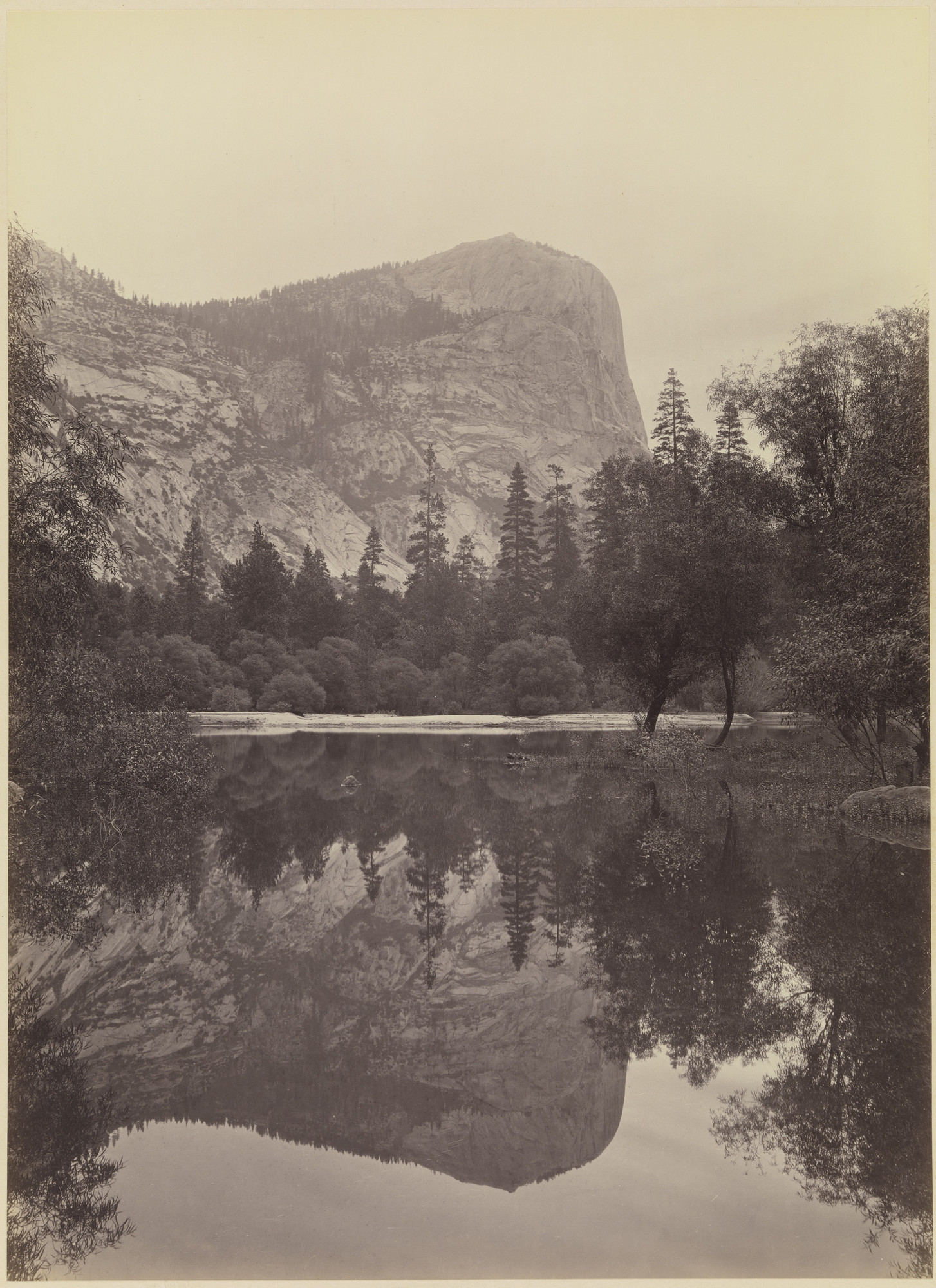 Carleton E. Watkins. Mirror Lake (View of Mt. Watkins), Yosemite. 1878-81