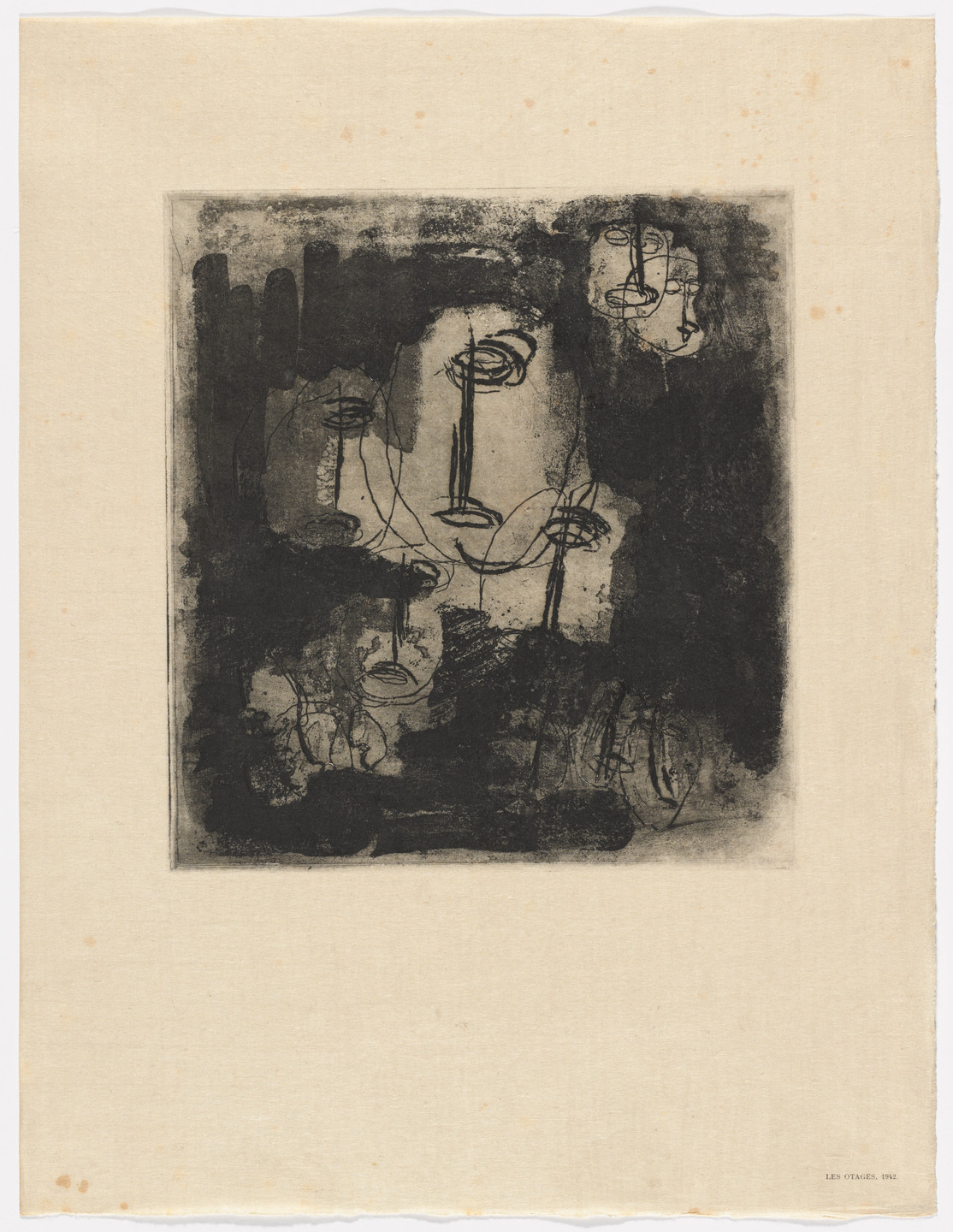 Jean Fautrier. Hostages (Les Otages), 1942 from Fautrier l'enragé. 1949