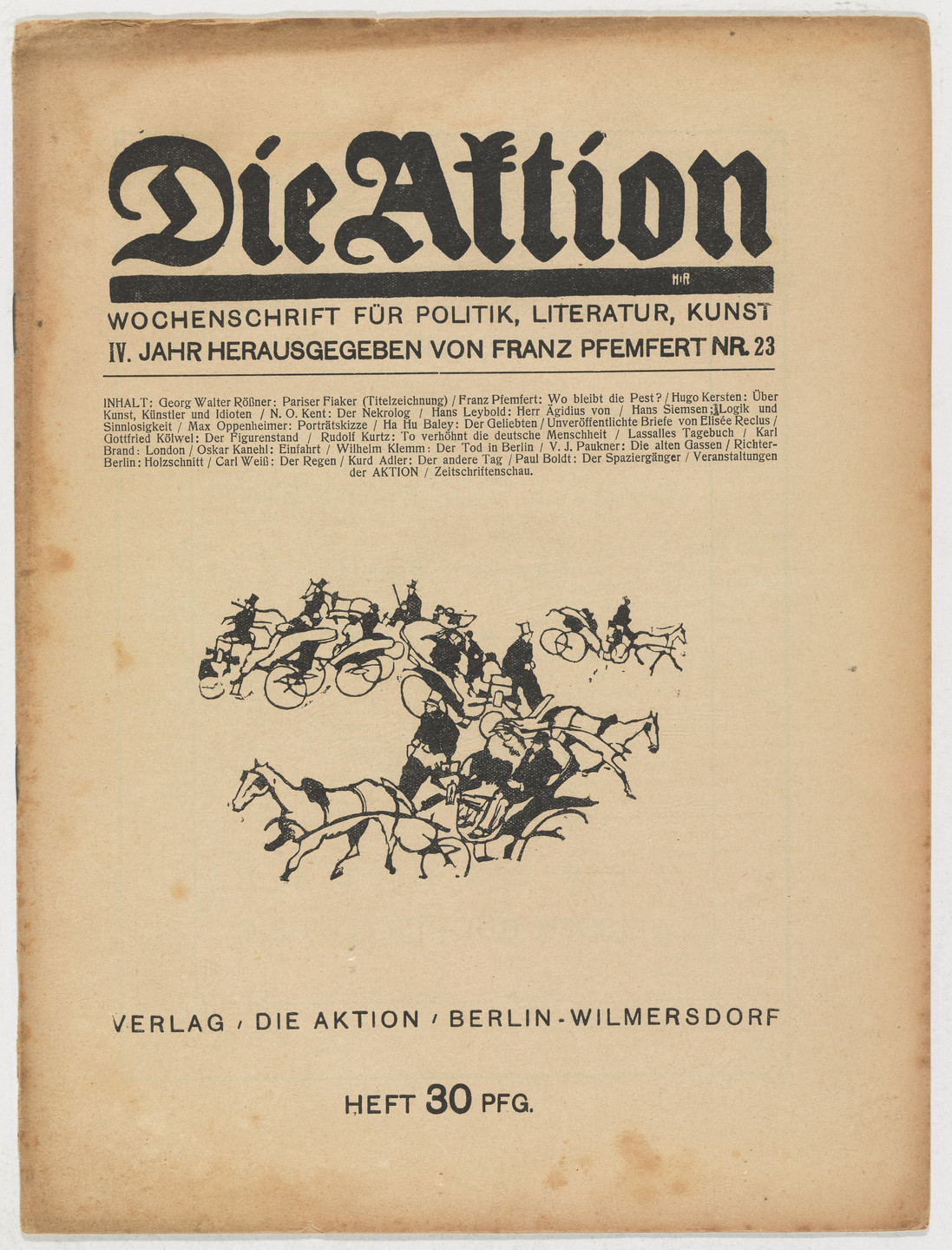 Heinrich Richter-Berlin. Die Aktion, vol. 4, no. 23. June 6, 1914