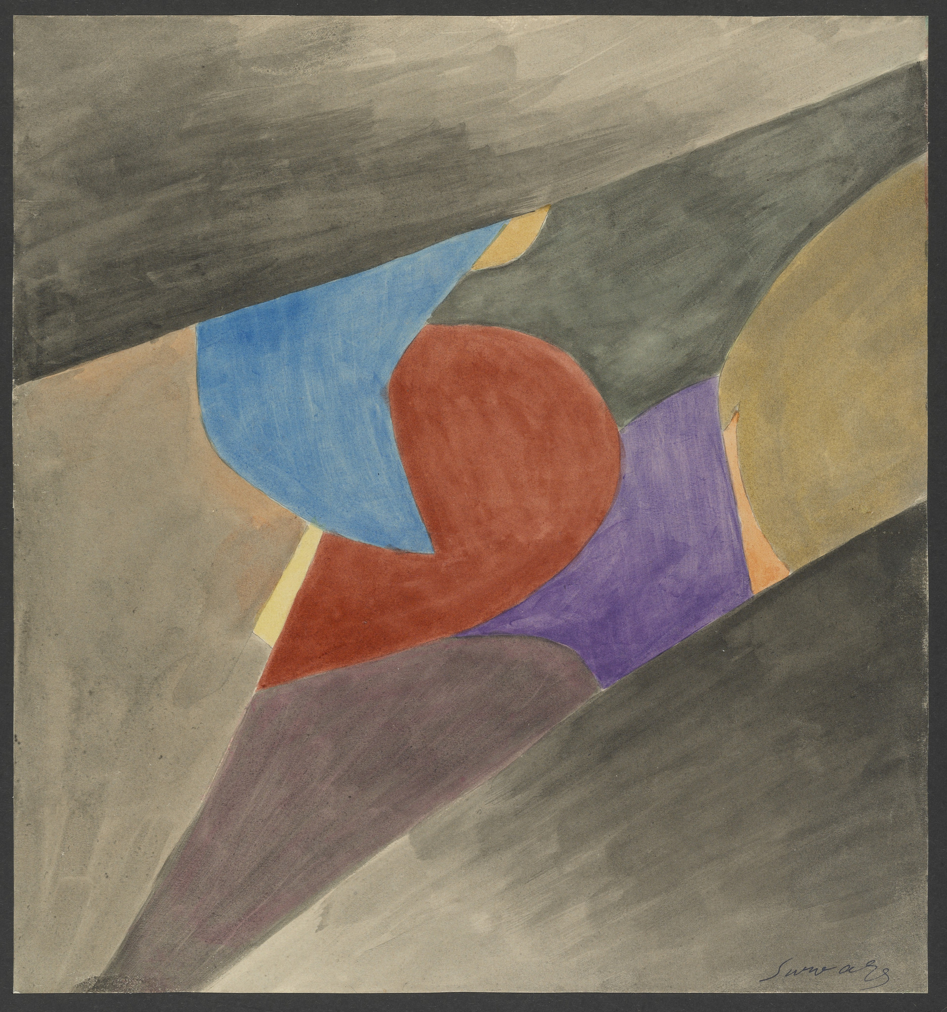 Léopold Survage. Colored Rhythm: Study for the Film. (1913)