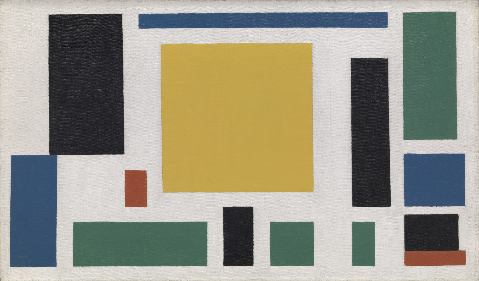 Theo van Doesburg. Composition VIII (The Cow). c. 1918