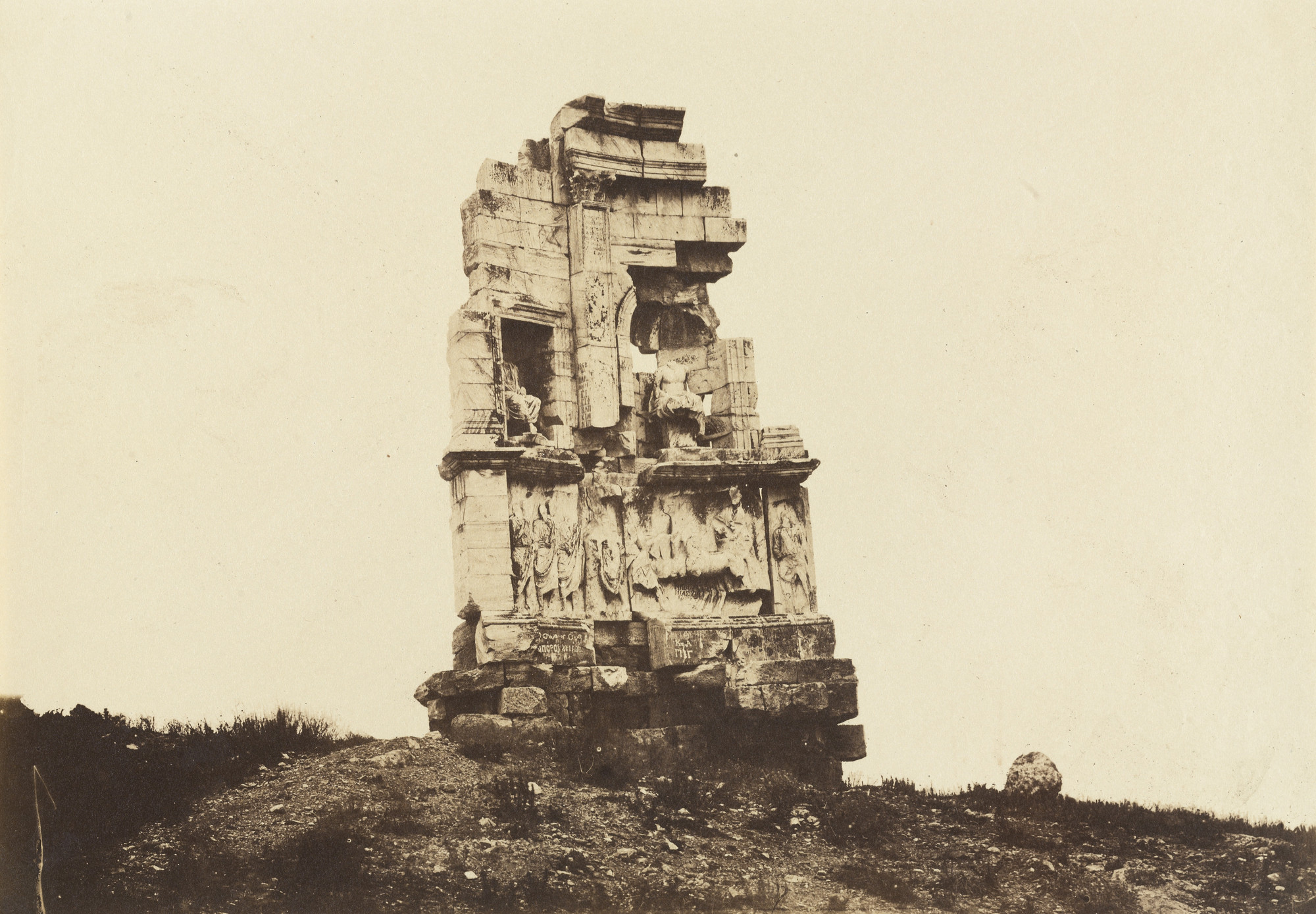 D. Constantin. Tomb of Philopappos. 1860-69