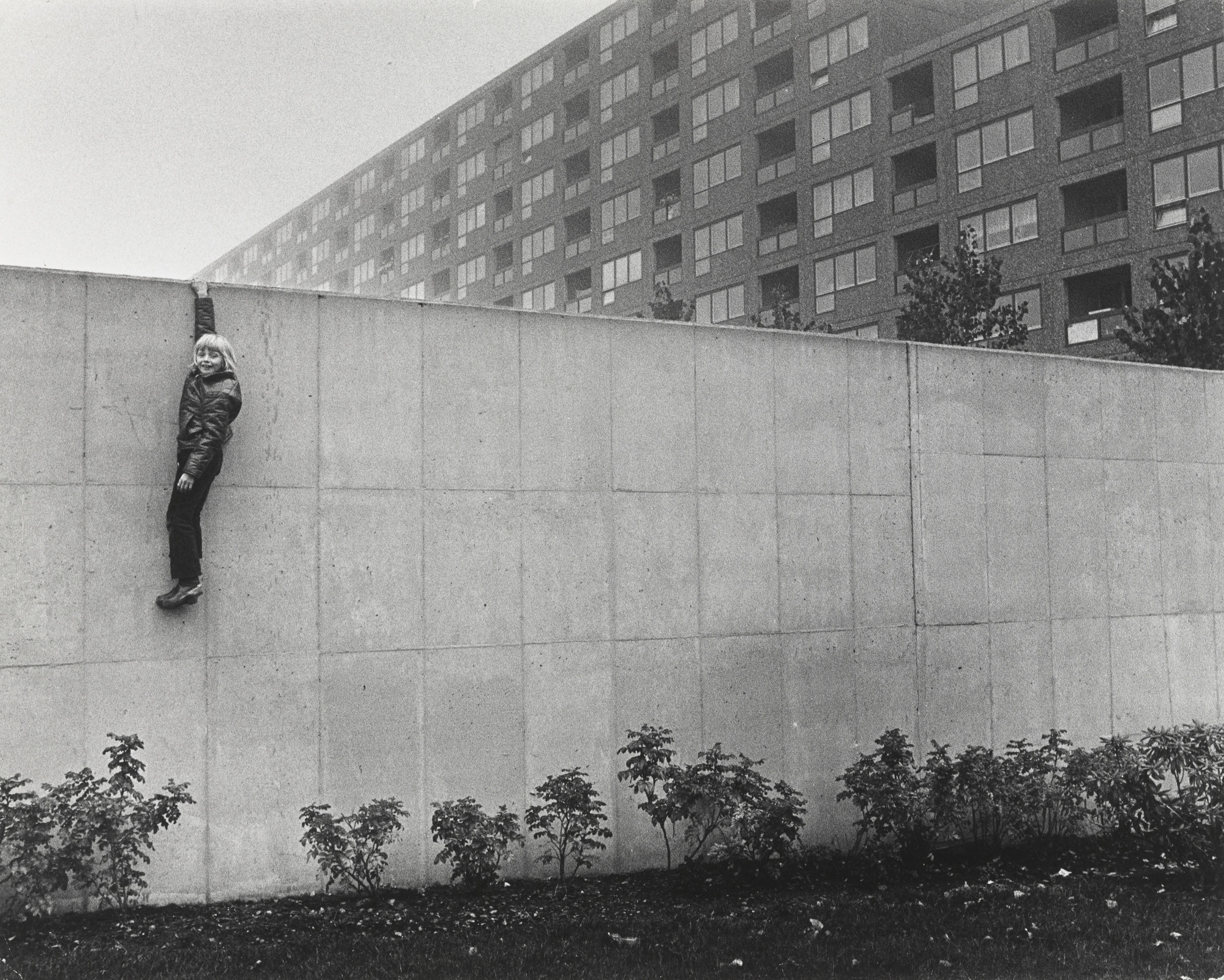 Jens S Jensen. Boy on the Wall, Hammarkullen, Gothenburg. 1973