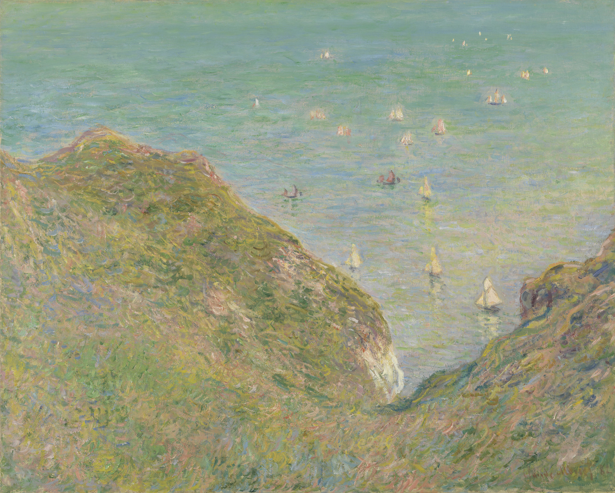 Claude Monet. On the Cliff at Pourville, Clear Weather. 1882