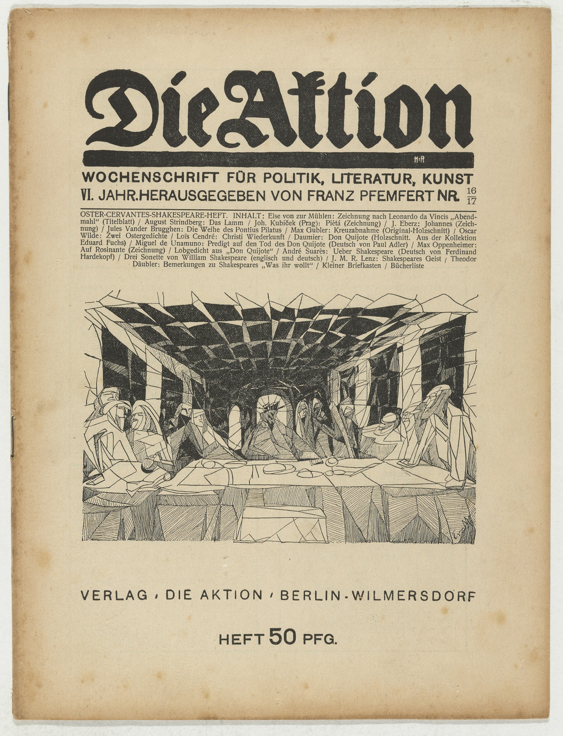 Max Gubler. Die Aktion, vol. 6, no. 16/17. April 23, 1916