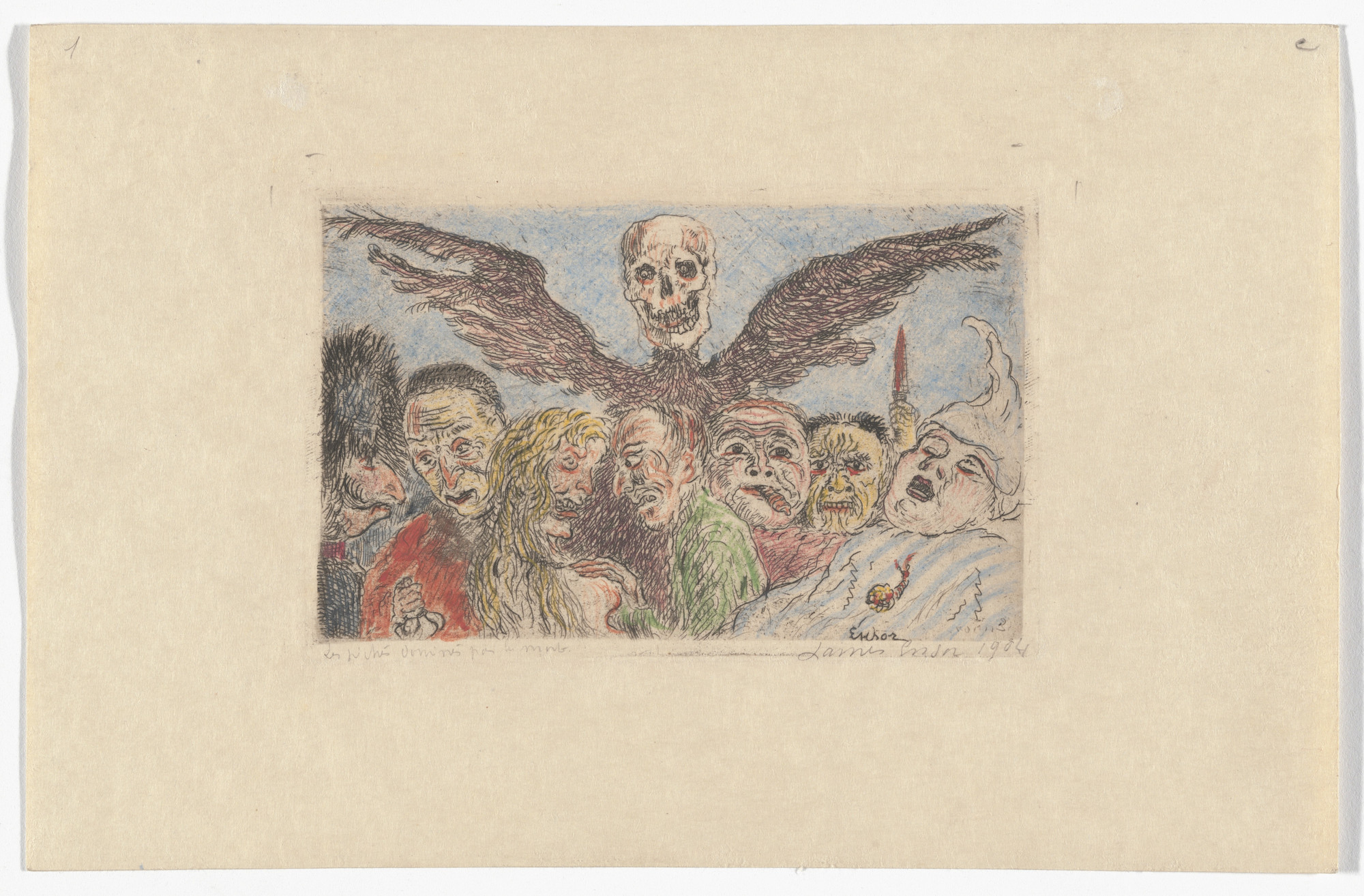 James Ensor. The Deadly Sins Dominated by Death (Les Péchés capitaux dominés par la mort) from The Deadly Sins (Les Péchés capitaux). 1904