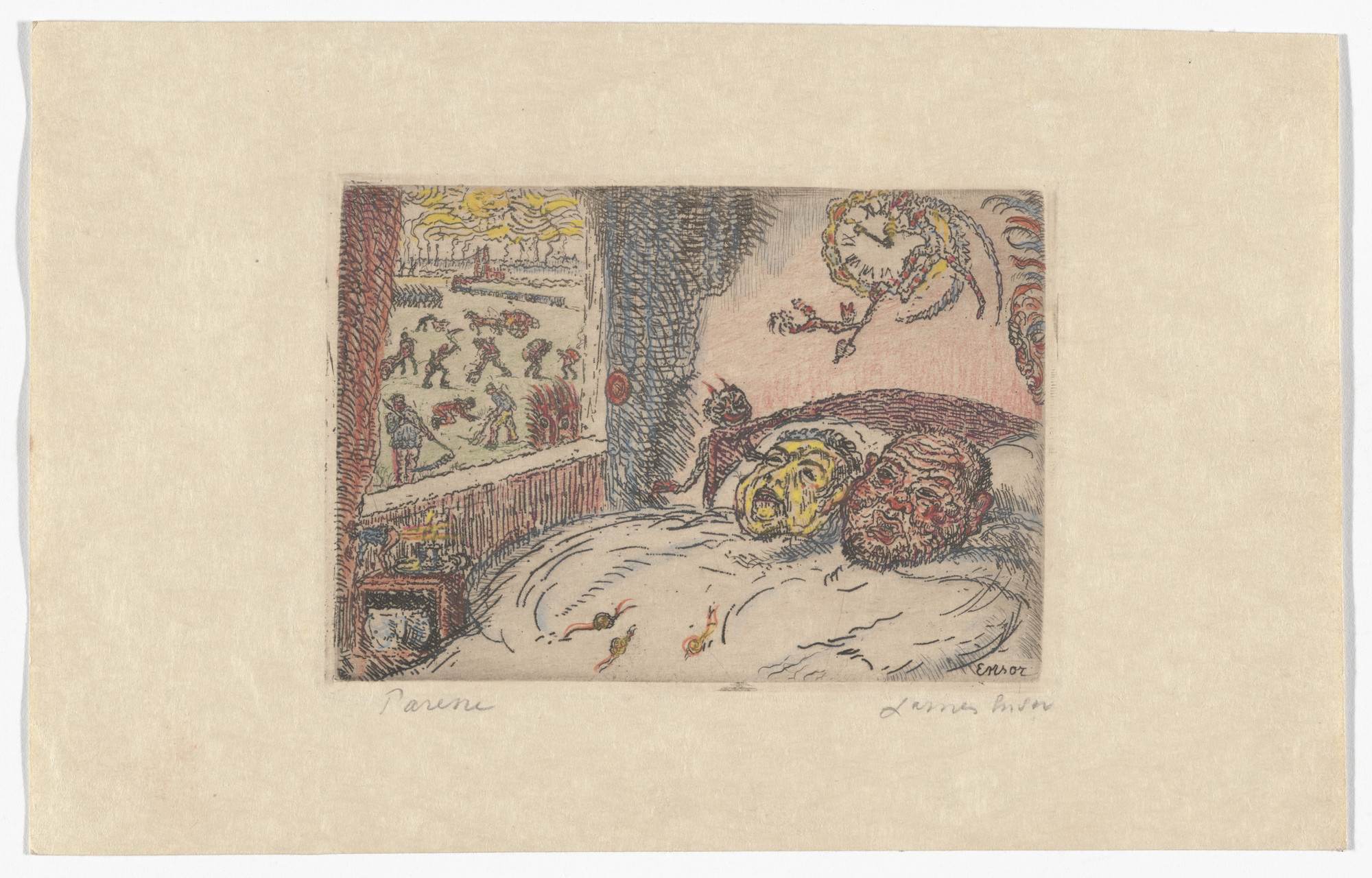 James Ensor. Sloth (La Paresse) from The Deadly Sins (Les Péchés capitaux). 1902, published 1904
