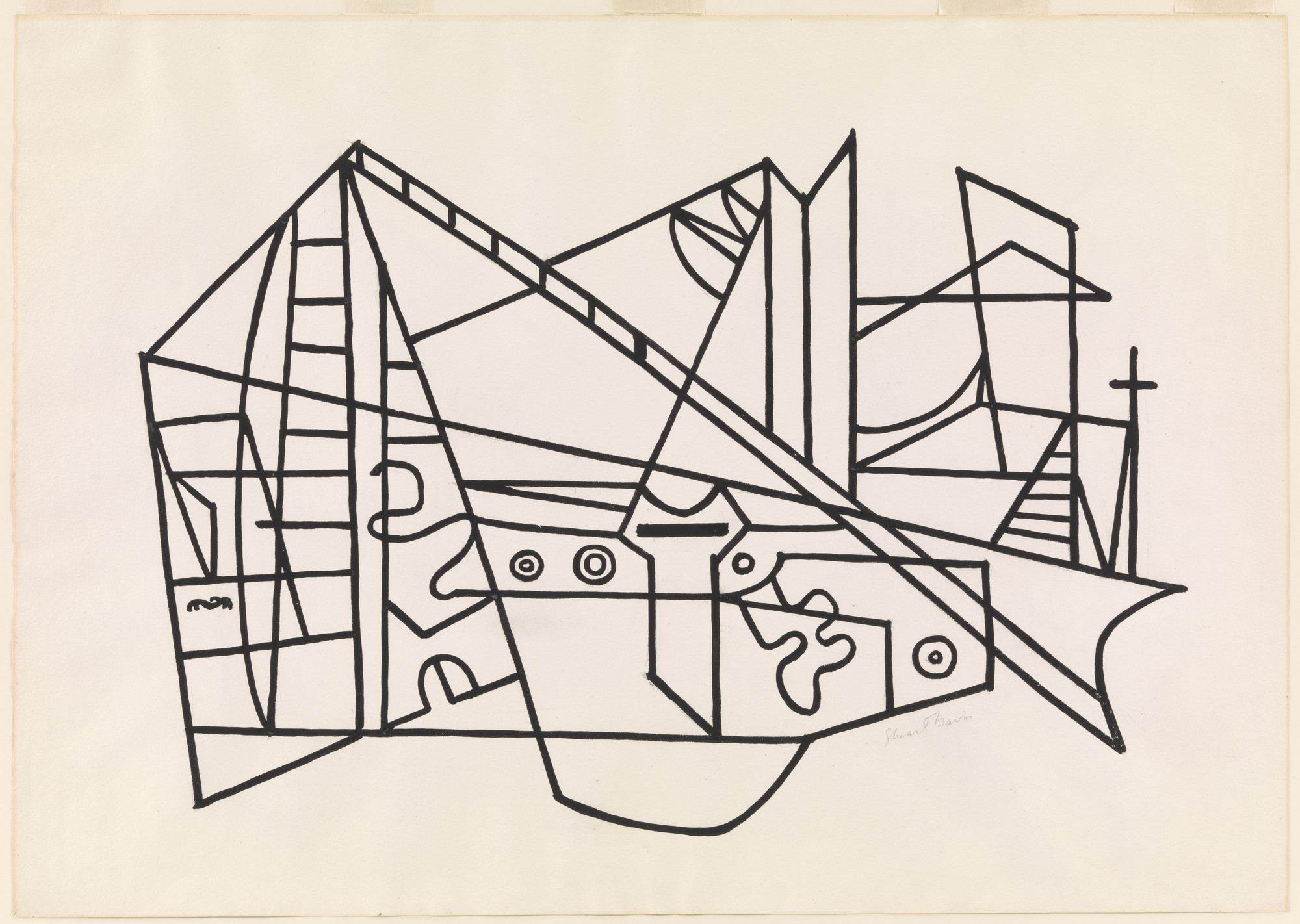 Stuart Davis. Composition No. 4. 1932