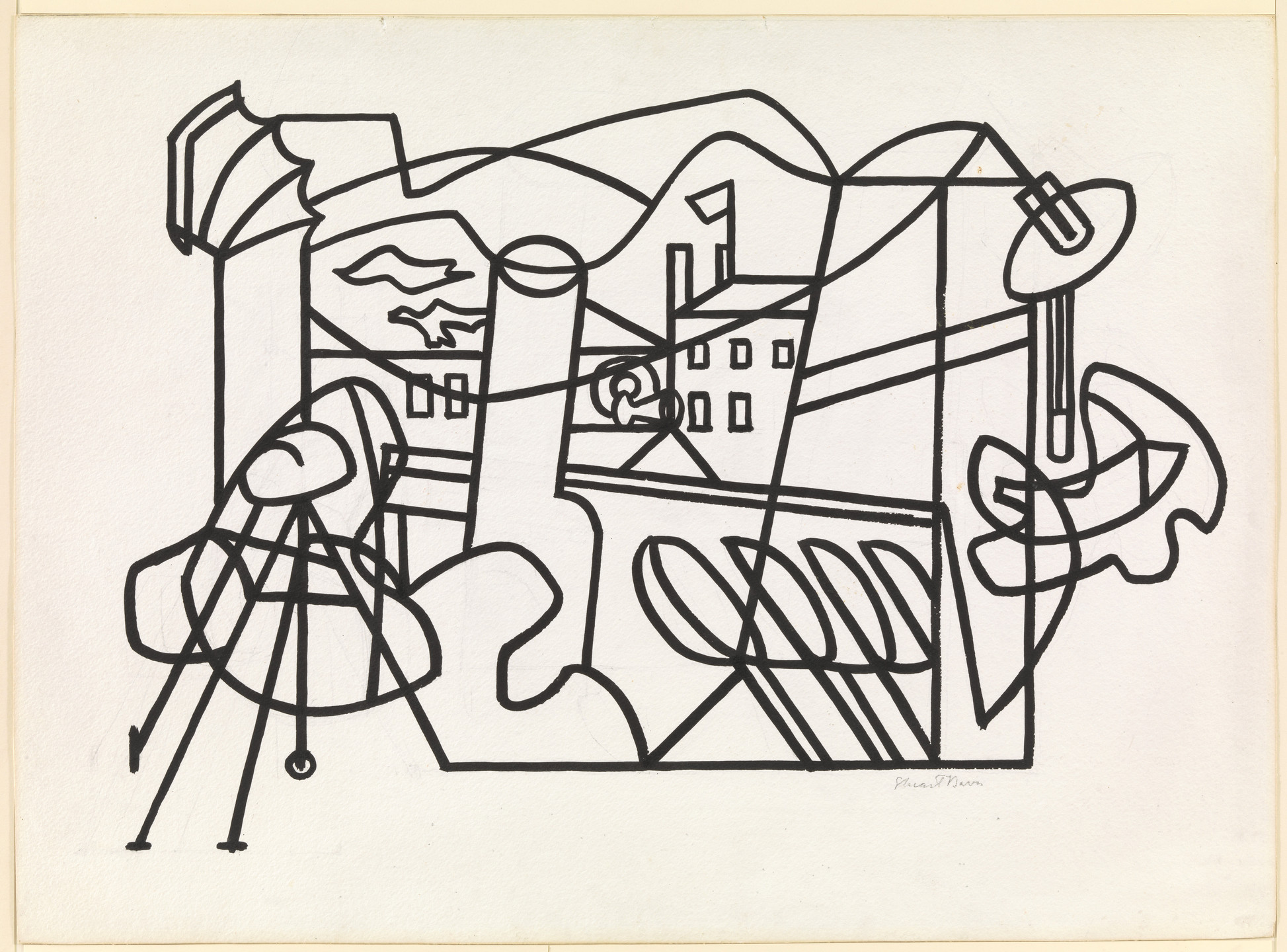 Stuart Davis. Composition No. 5. 1932
