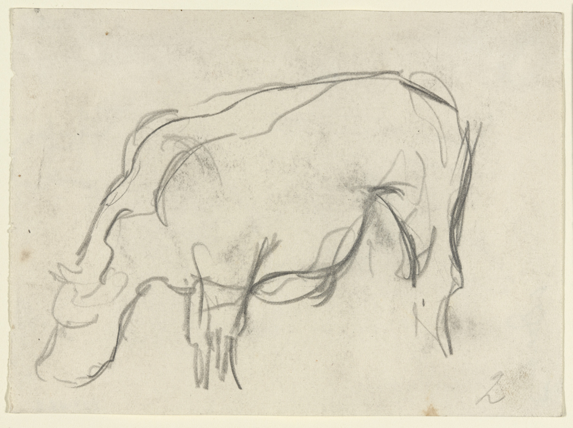 Theo van Doesburg. Study for Composition VIII (The Cow). c. 1917