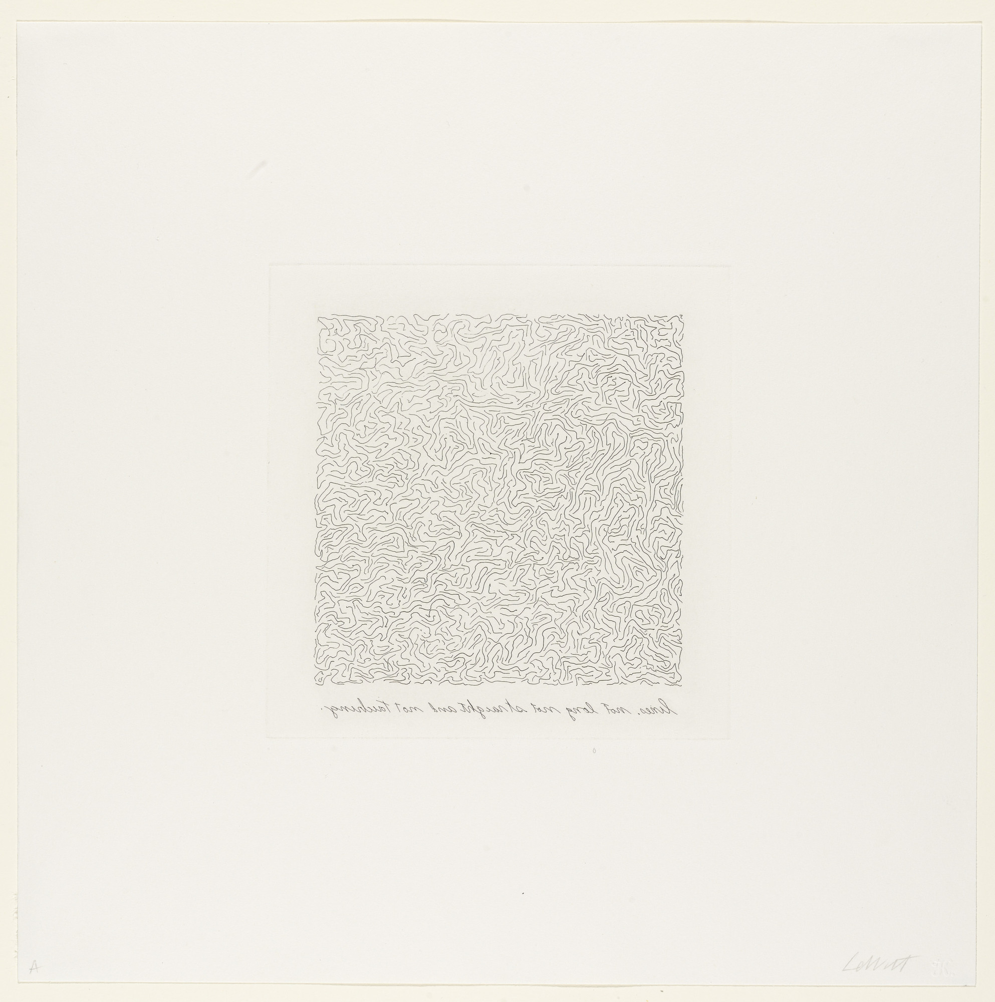 Sol LeWitt. Lines, Not Long, Not-Straight & Not Touching. 1971