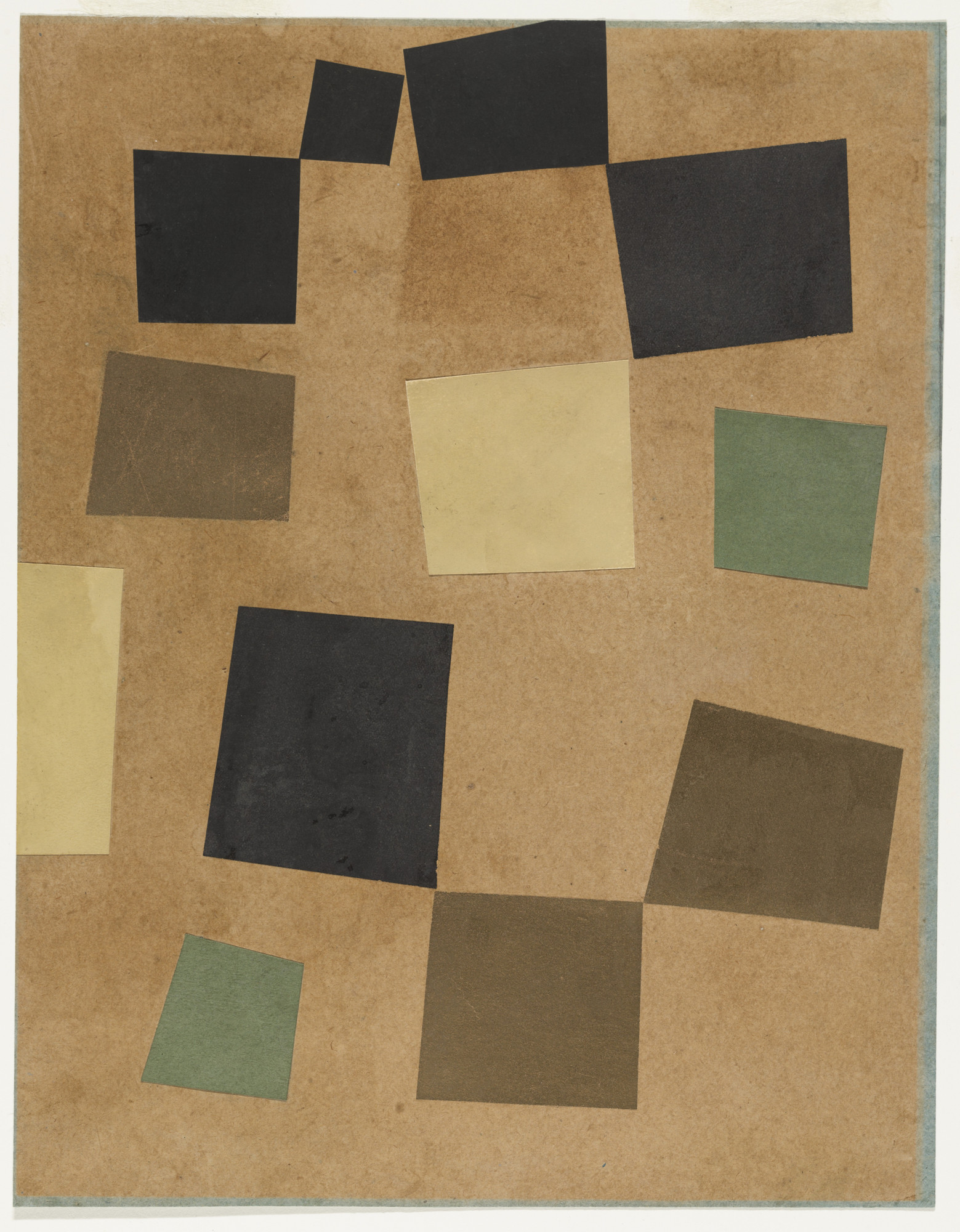 Jean (Hans) Arp. Untitled (Squares Arranged According to the Laws of Chance). 1917