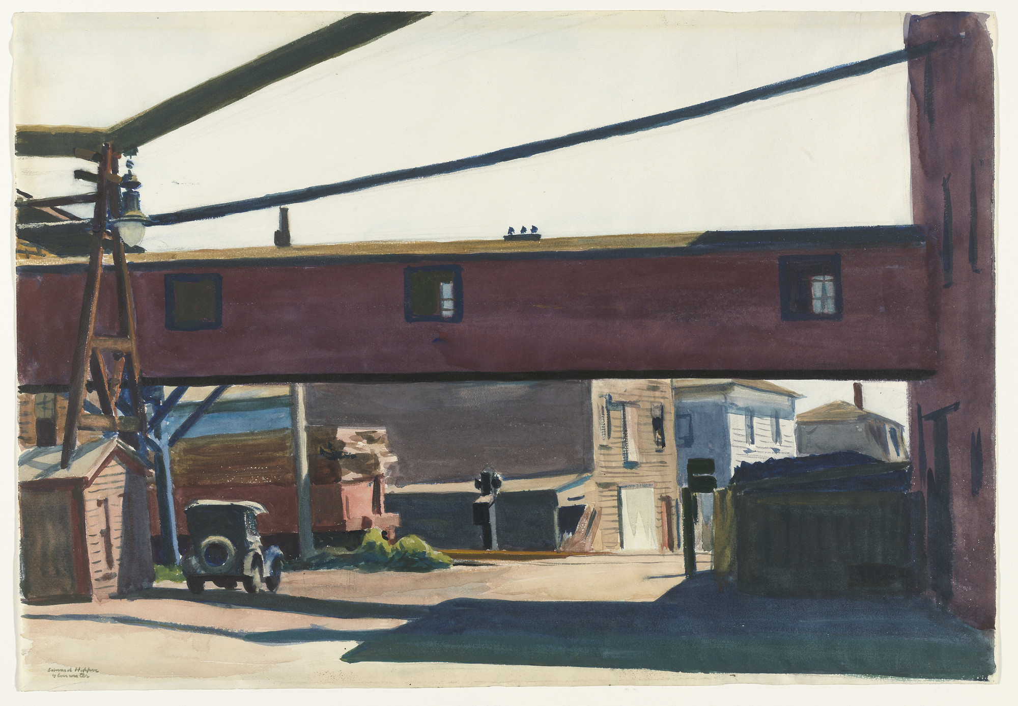 Edward Hopper. Box Factory, Gloucester. (1928)