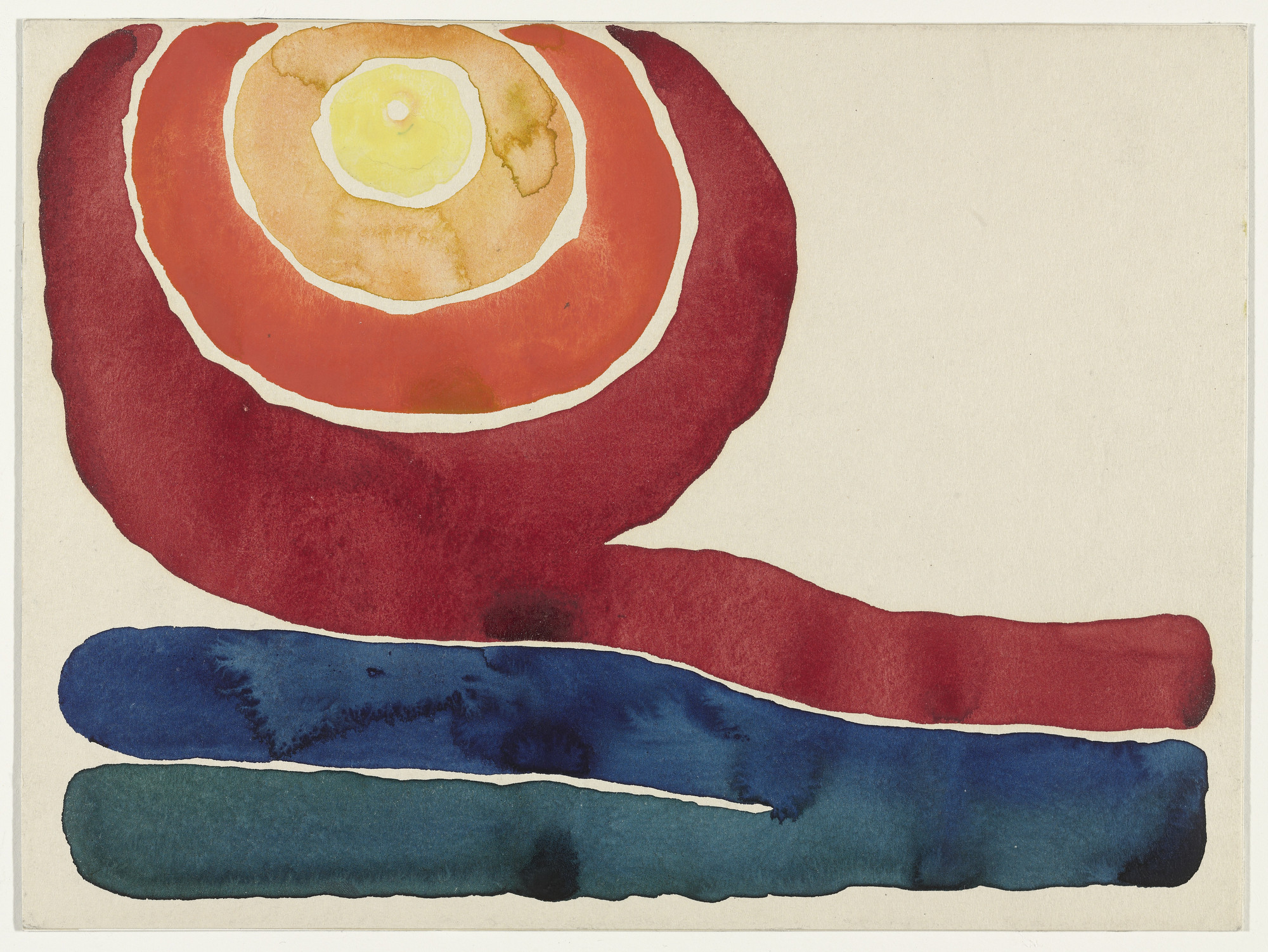 Georgia O'Keeffe. Evening Star No. III. 1917