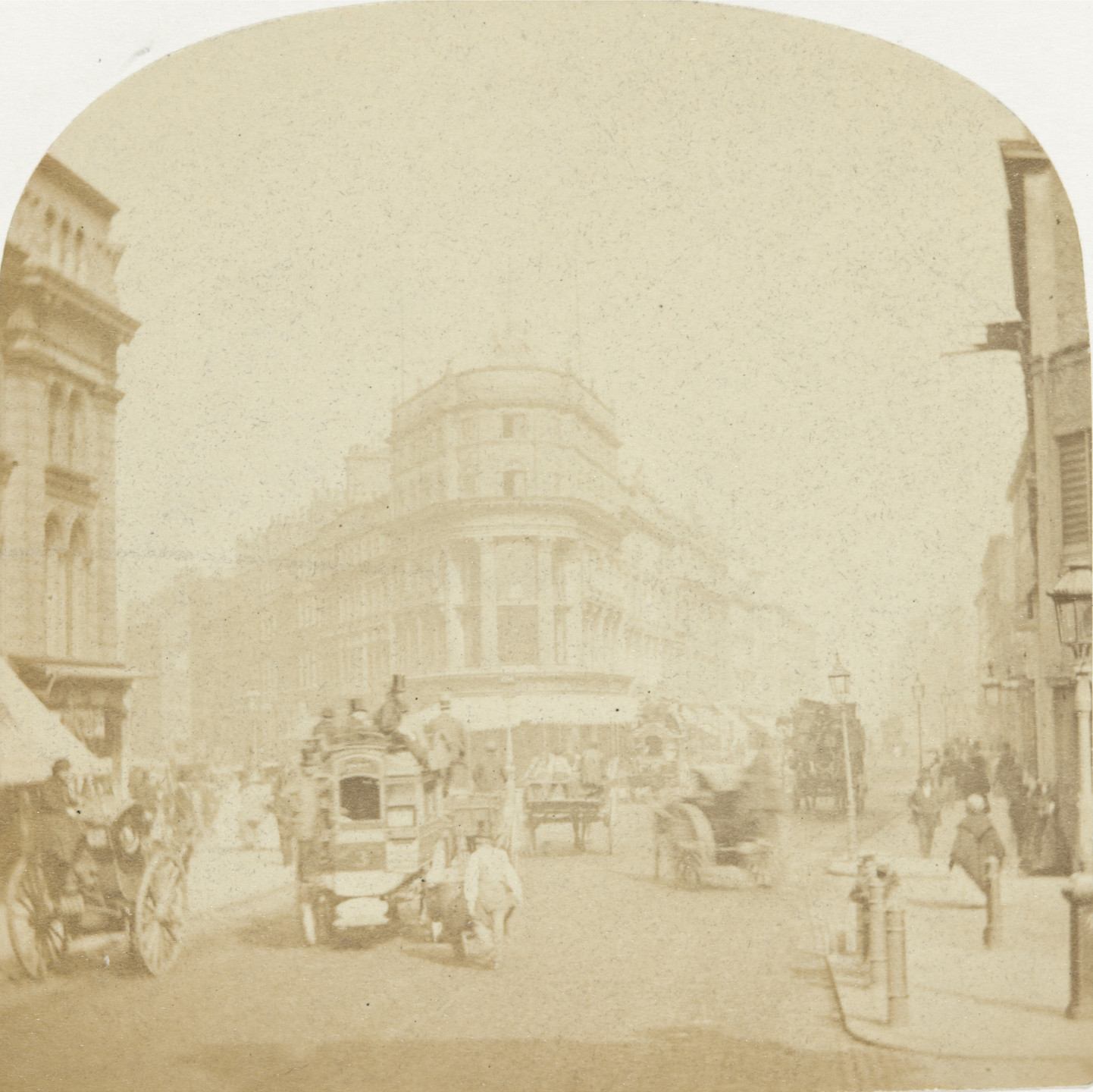 Roger Fenton. London, Picadilly. 1857