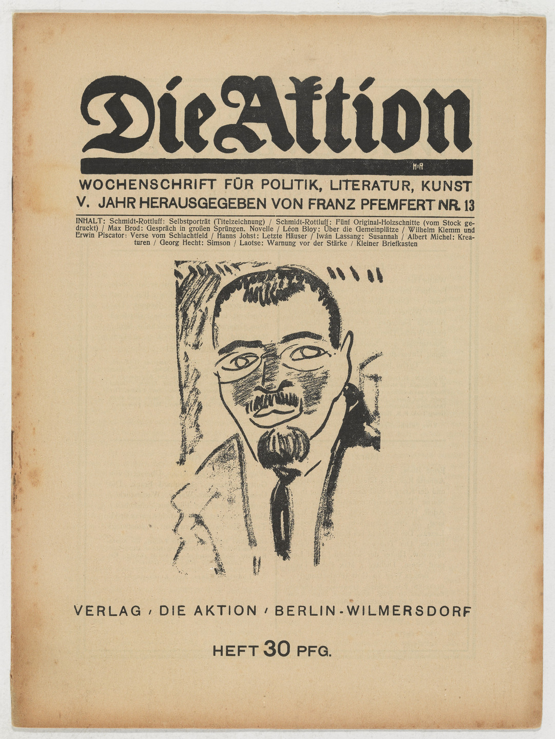 Karl Schmidt-Rottluff. Die Aktion, vol. 5, no. 13. March 20, 1915