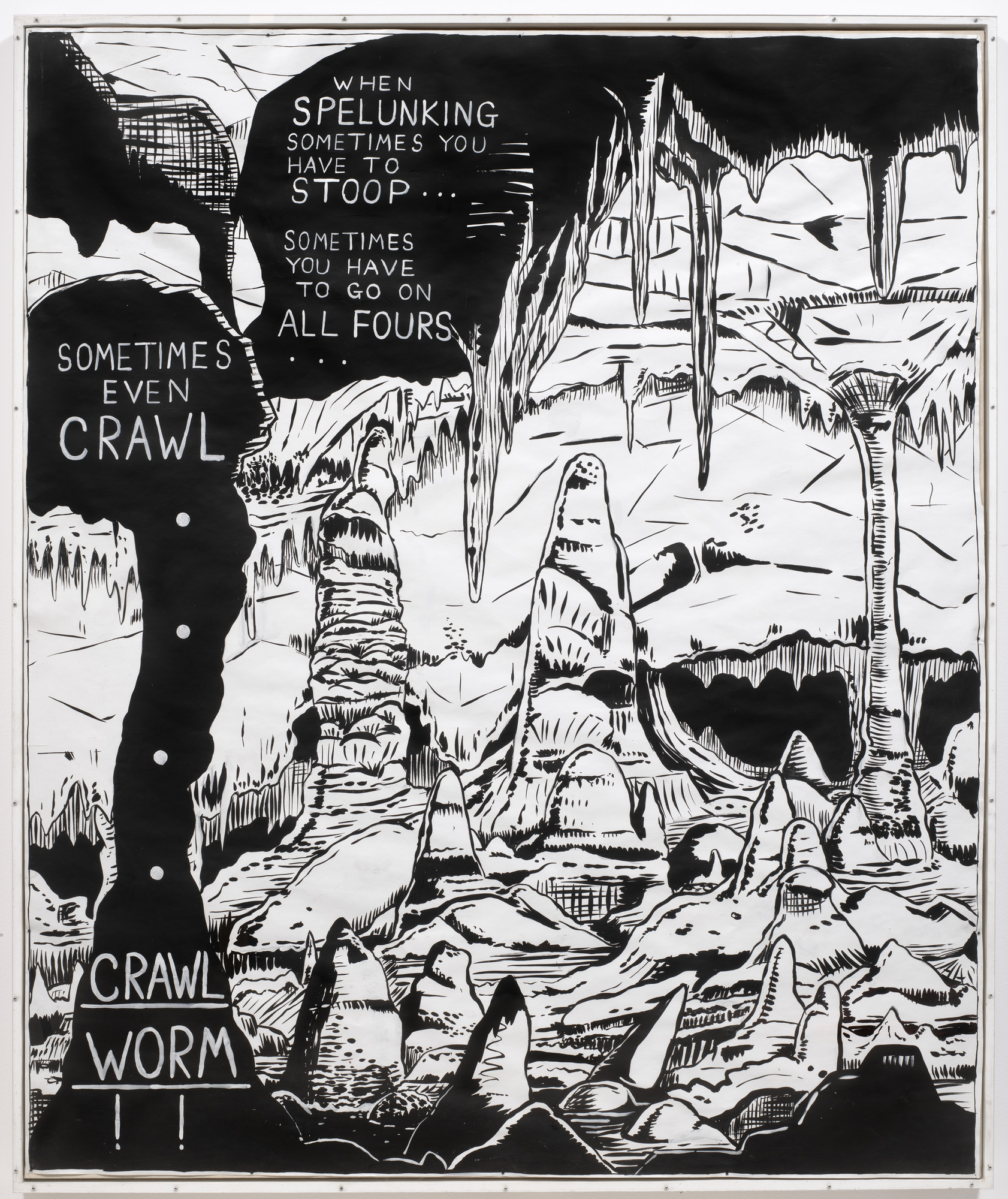 Mike Kelley. Exploring from Plato's Cave, Rothko's Chapel, Lincoln's Profile. 1985