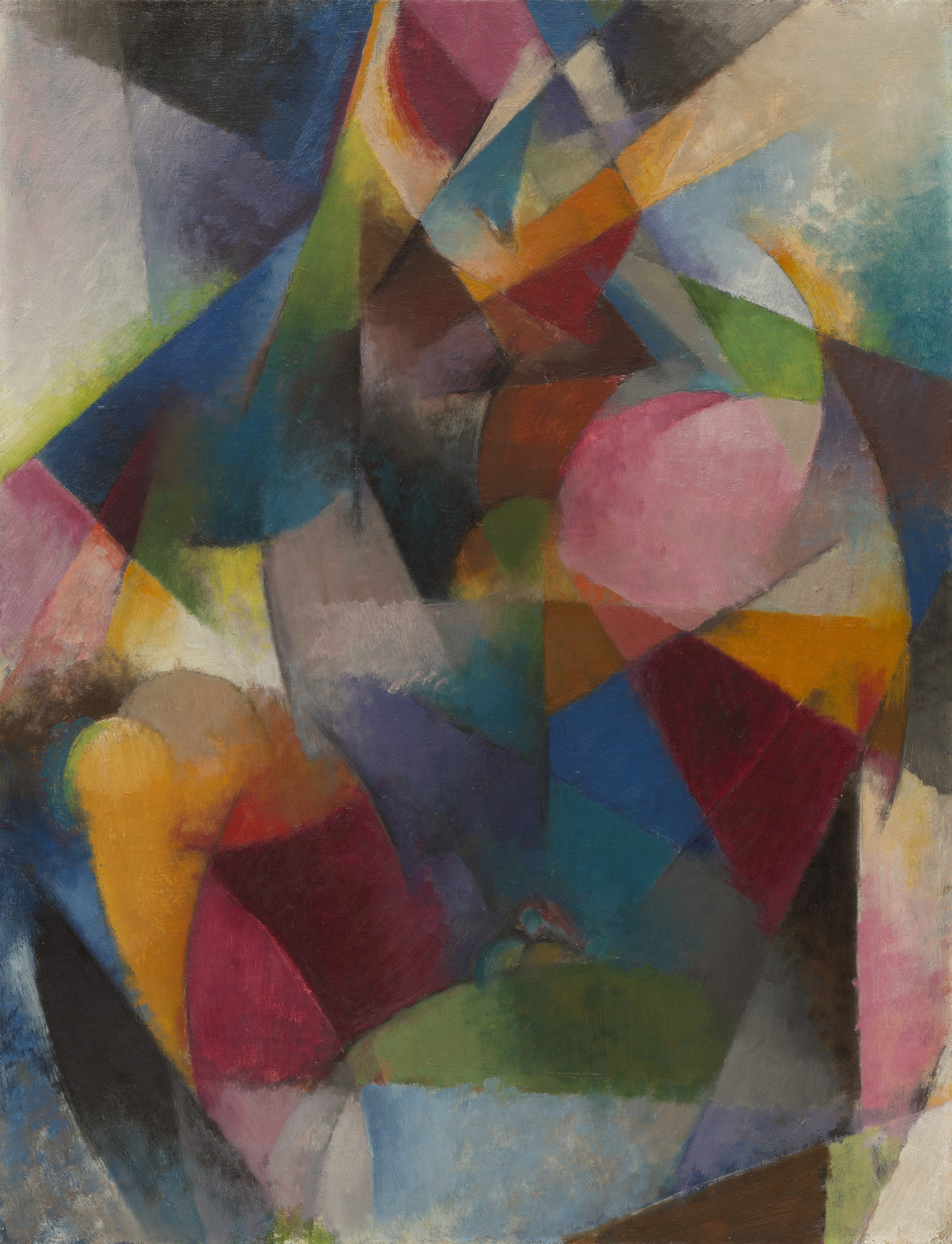 Stanton Macdonald-Wright. Synchromy in Blue. c. 1917-18