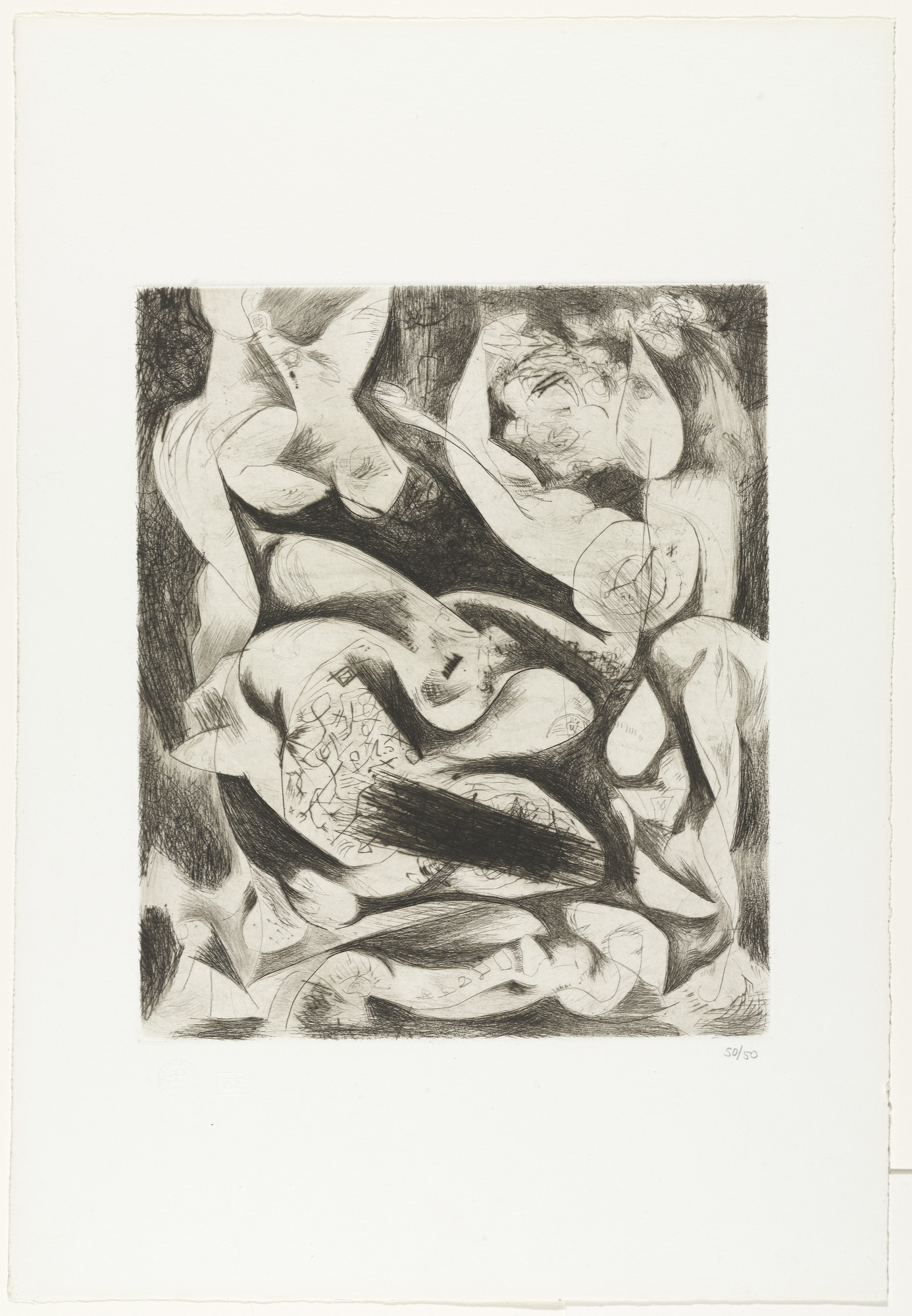 Jackson Pollock. Untitled (2). c. 1944, printed in 1967