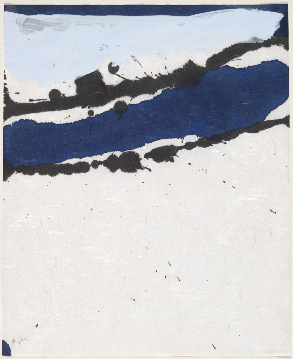 Robert Motherwell. Untitled from the series Lyric Suite. 1965