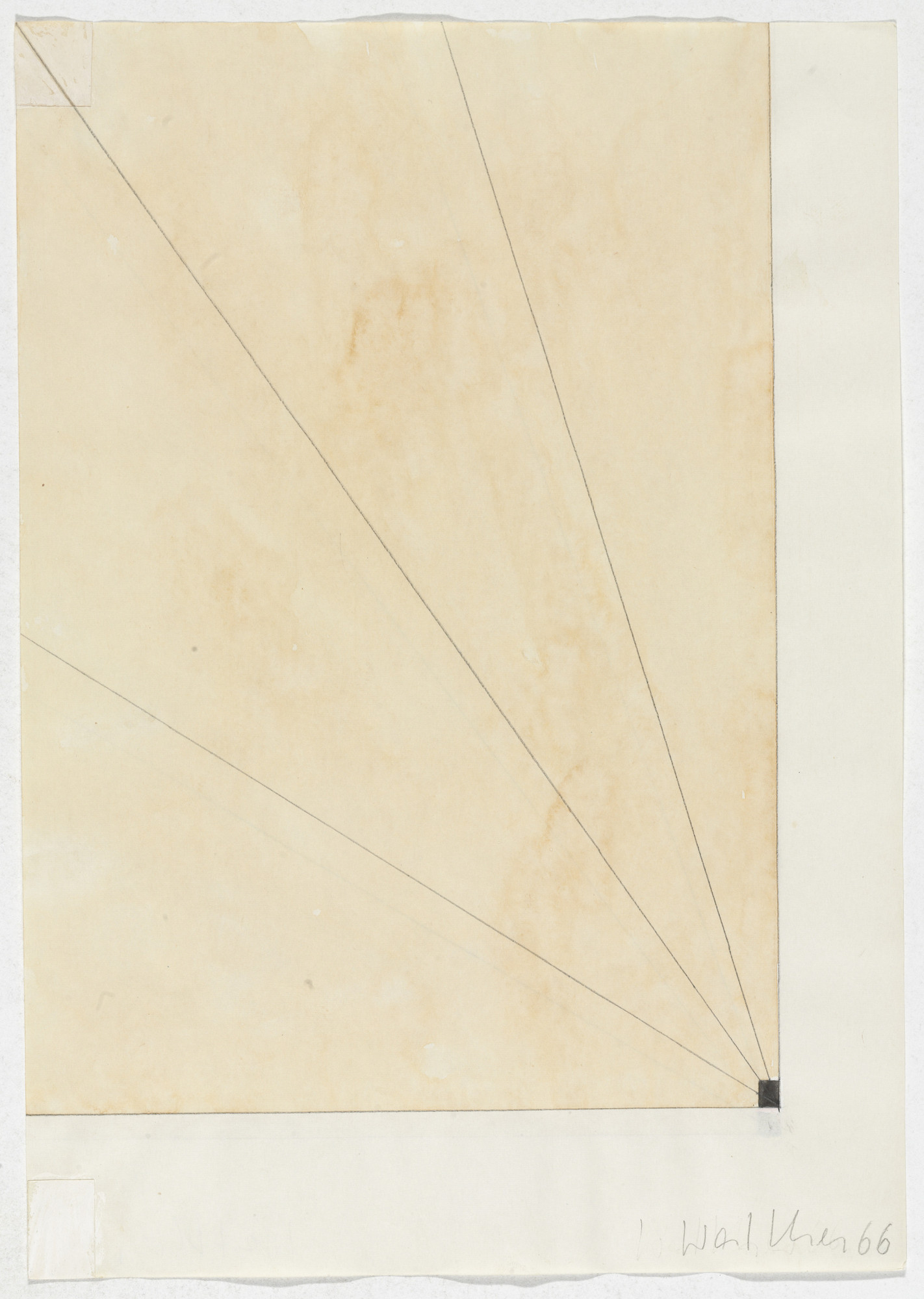 Franz Erhard Walther. Work Drawing: Field and Division. 1966