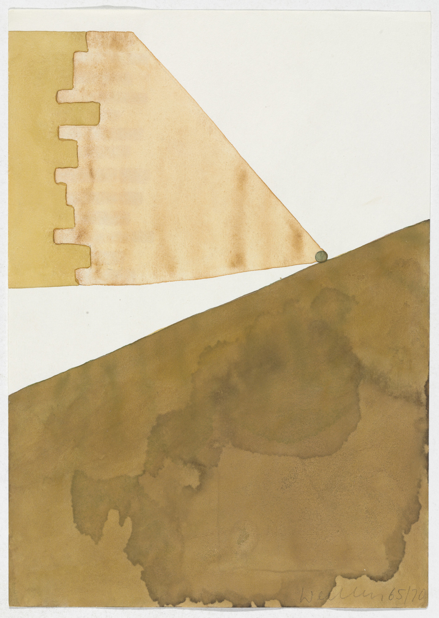 Franz Erhard Walther. Work Drawing: For Hills and Mountains. 1965/1970