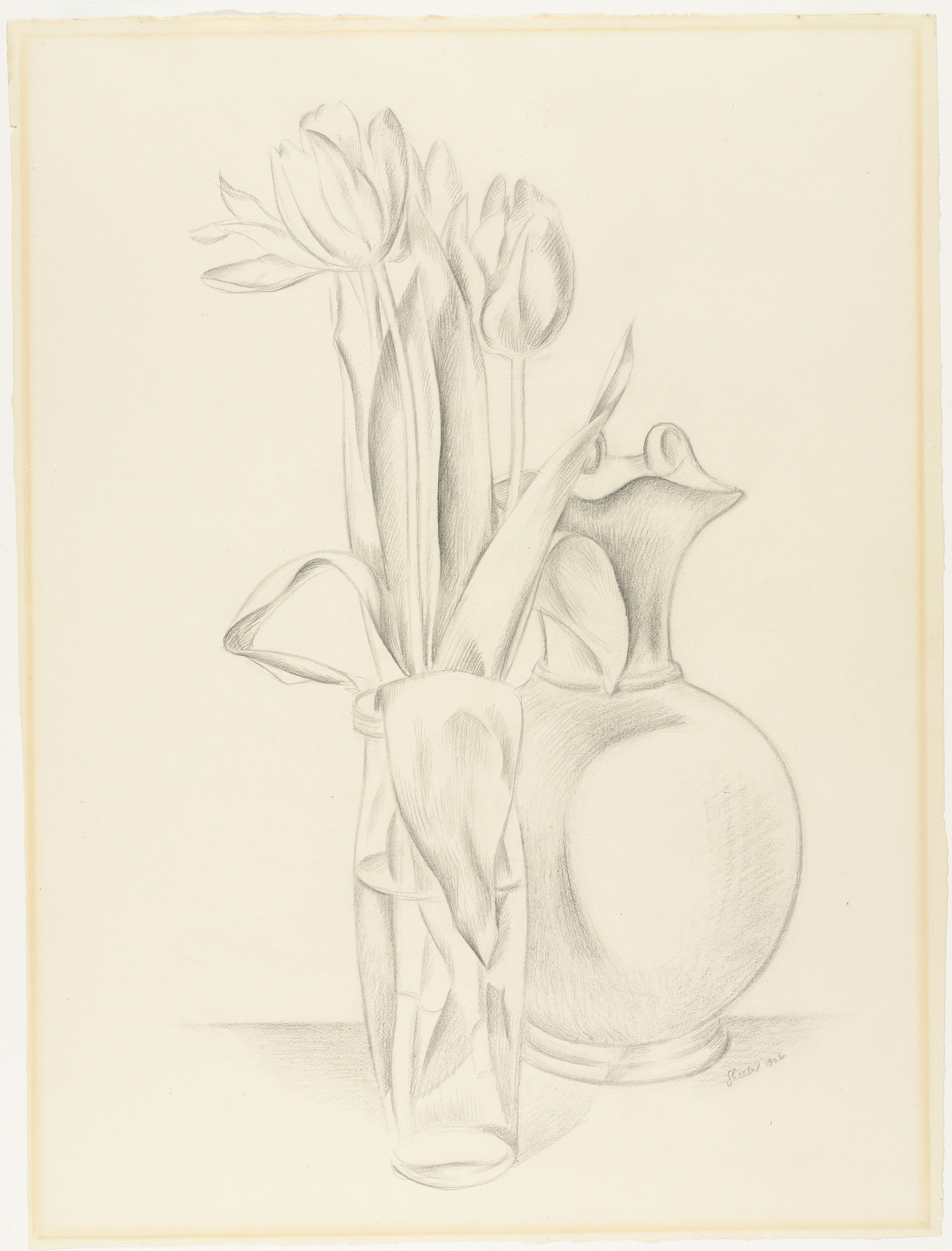 Charles Sheeler. Tulips and Etruscan Vase. 1922